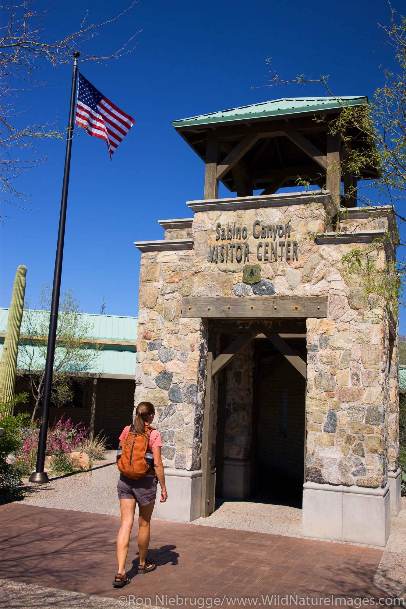 Visitor Center, Sabino Canyon Recreation Area, Tucson, Arizona.  (model released)