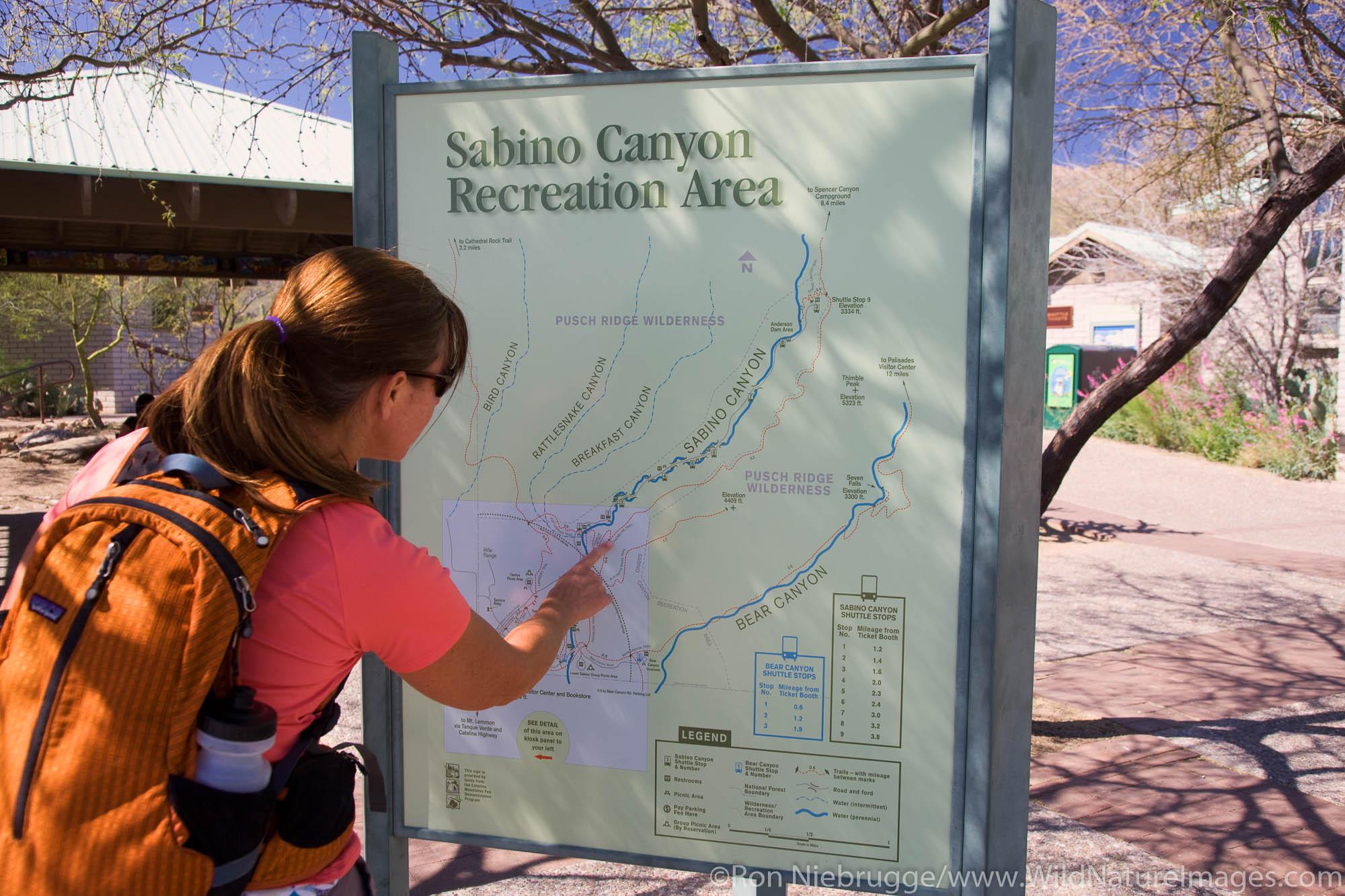 Visitors, Sabino Canyon Recreation Area, Tucson, Arizona.  (model released)