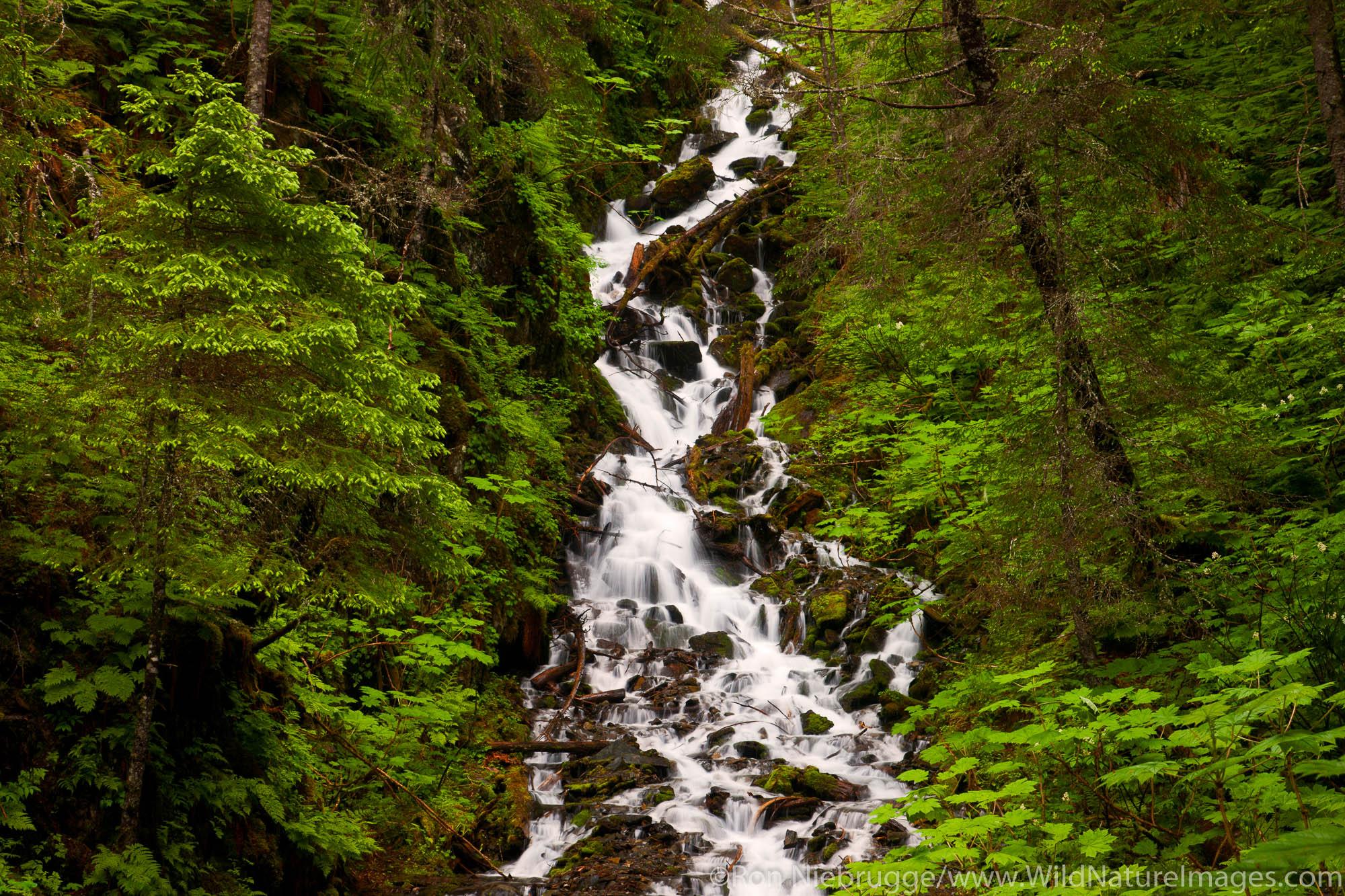 Waterfall, Seward, Alaska.