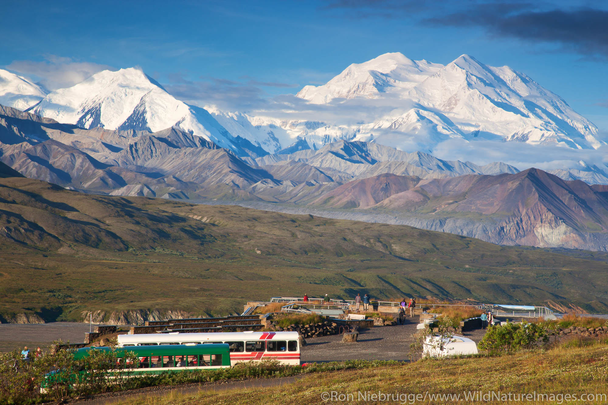 Mt. McKinley and the Eielson Visitor Center, Denali National Park, Alaska.