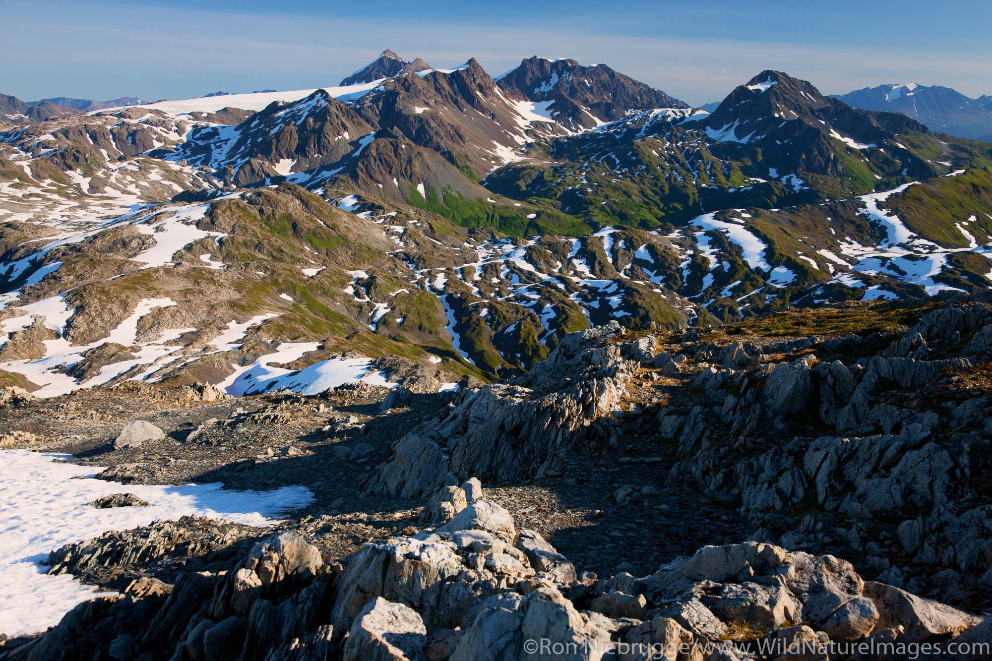 Aerial of Kenai Fjords National Park, near Seward, Alaska.