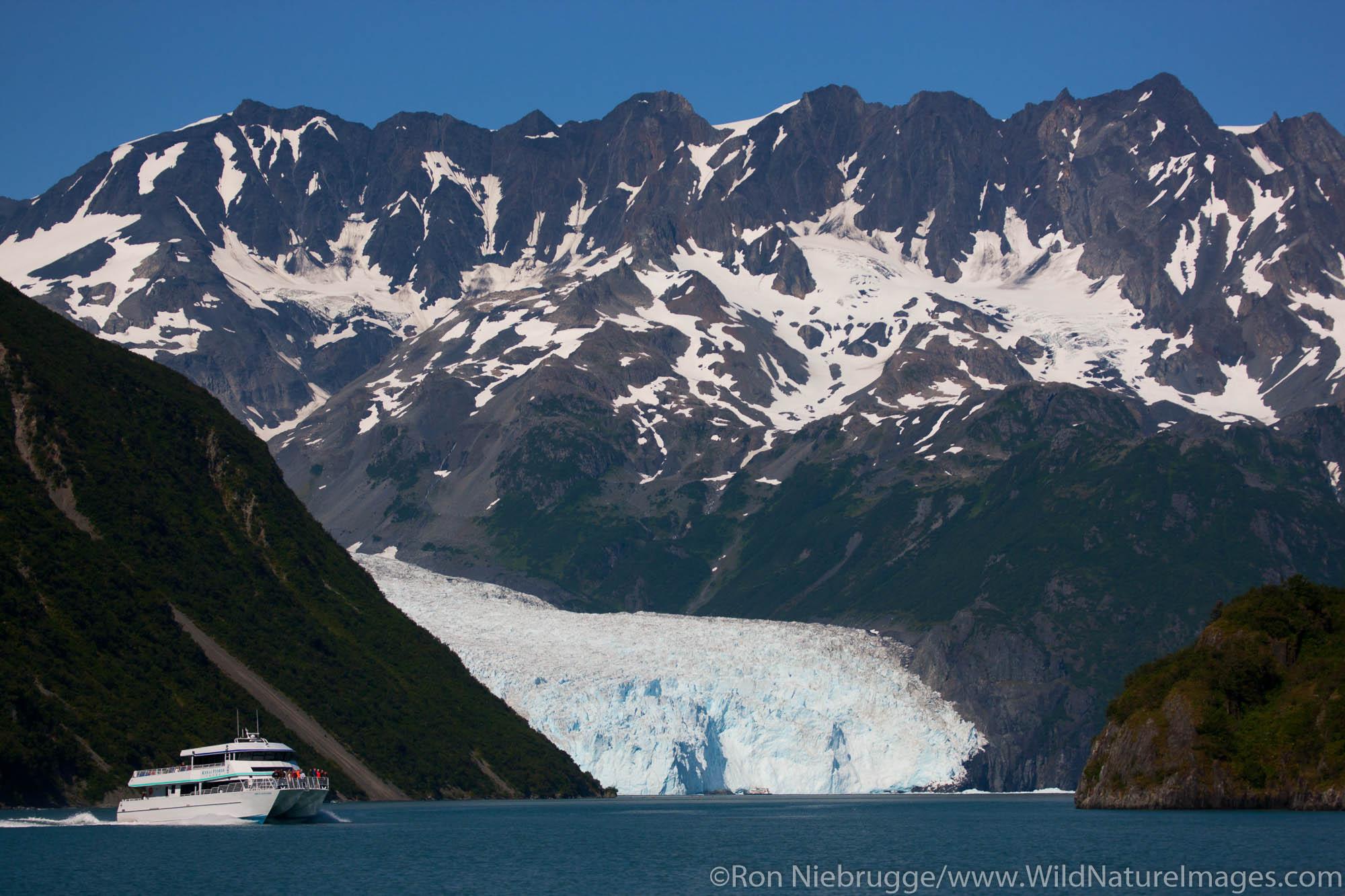 M/V Orca Voyager, Aialik Glacier, Kenai Fjords National Park, near Seward, Alaska.