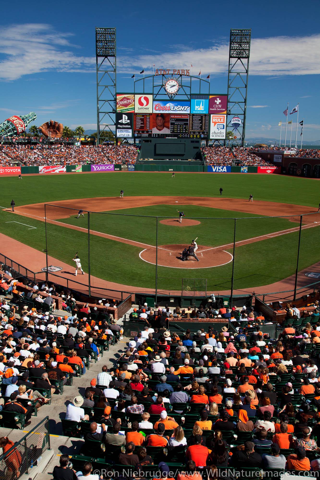 AT&T Park, San Francisco Giants game, San Francisco, CA.