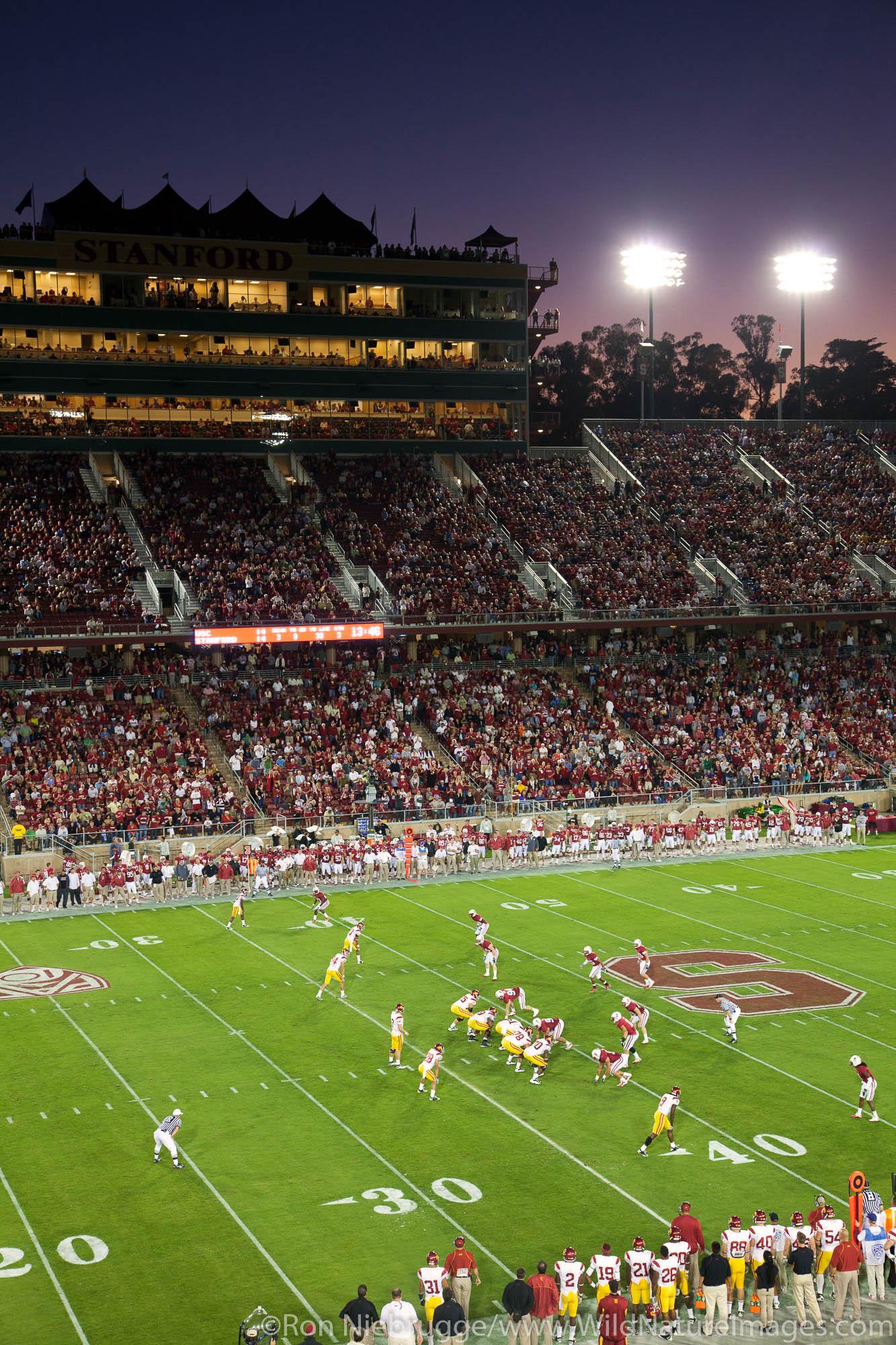College football game at Stanford Stadium, Stanford, CA