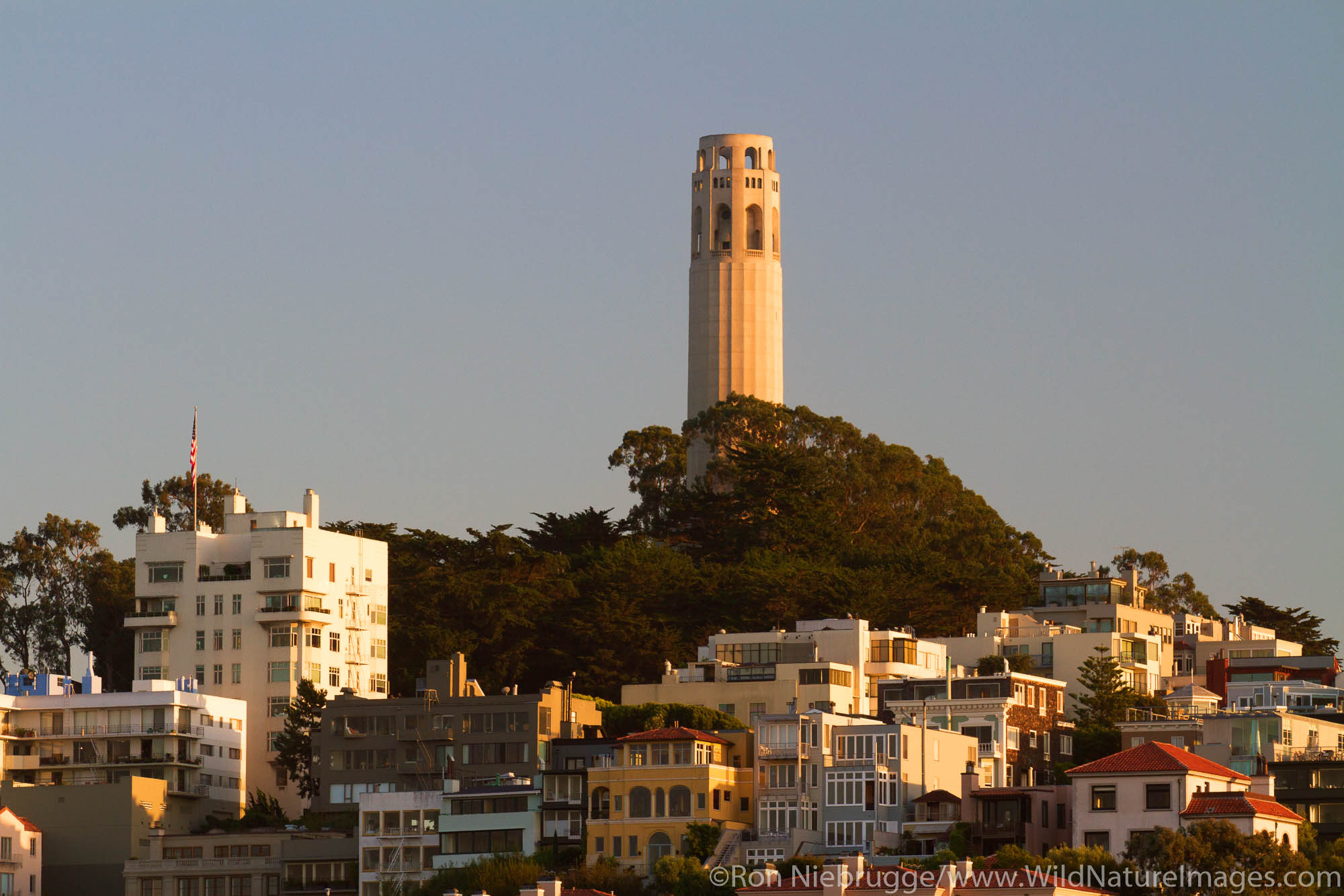 Coit Tower from Fisherman's Wharf, San Francisco, CA