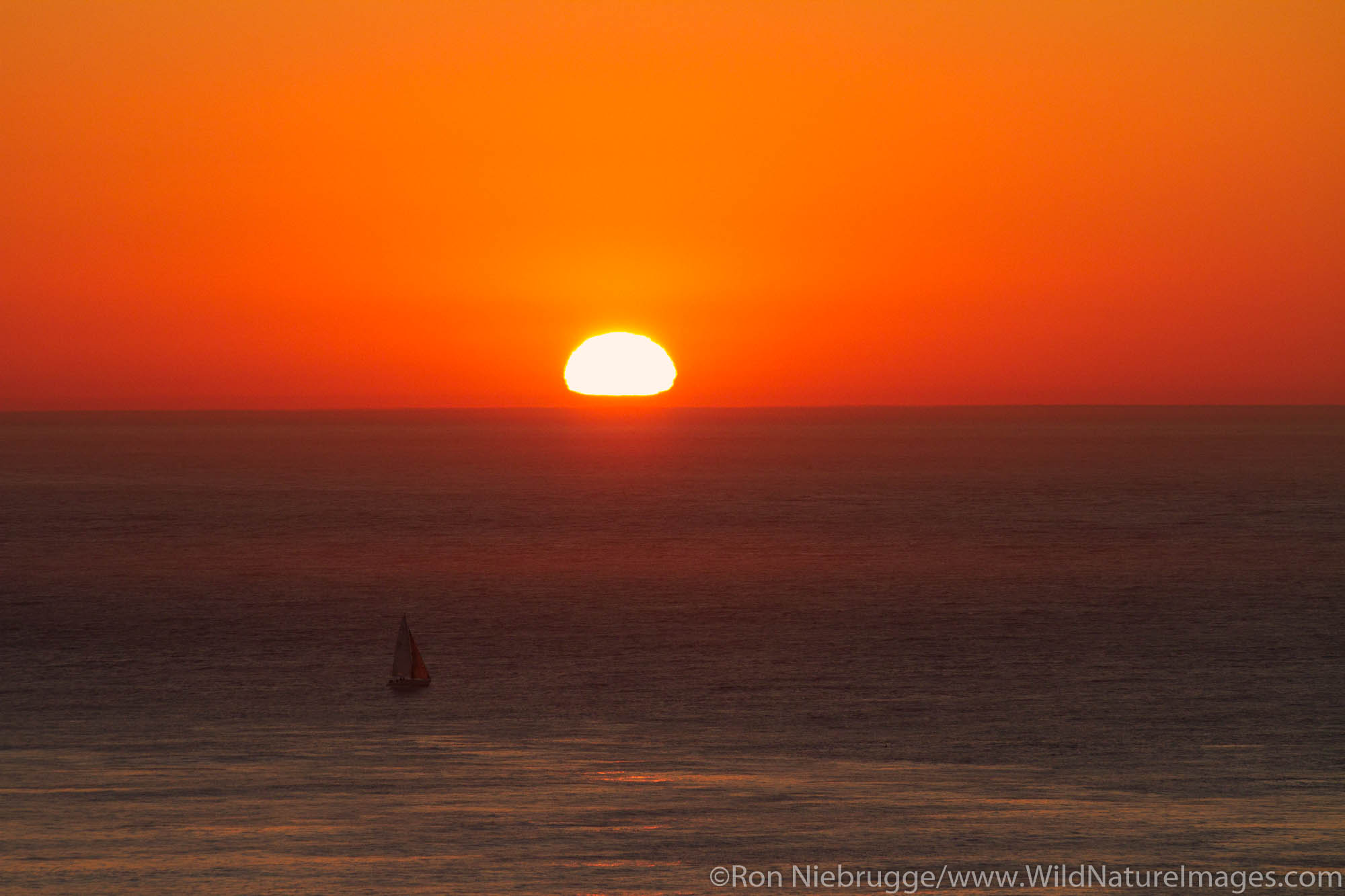 Sunset on San Francisco Bay, San Francisco, CA