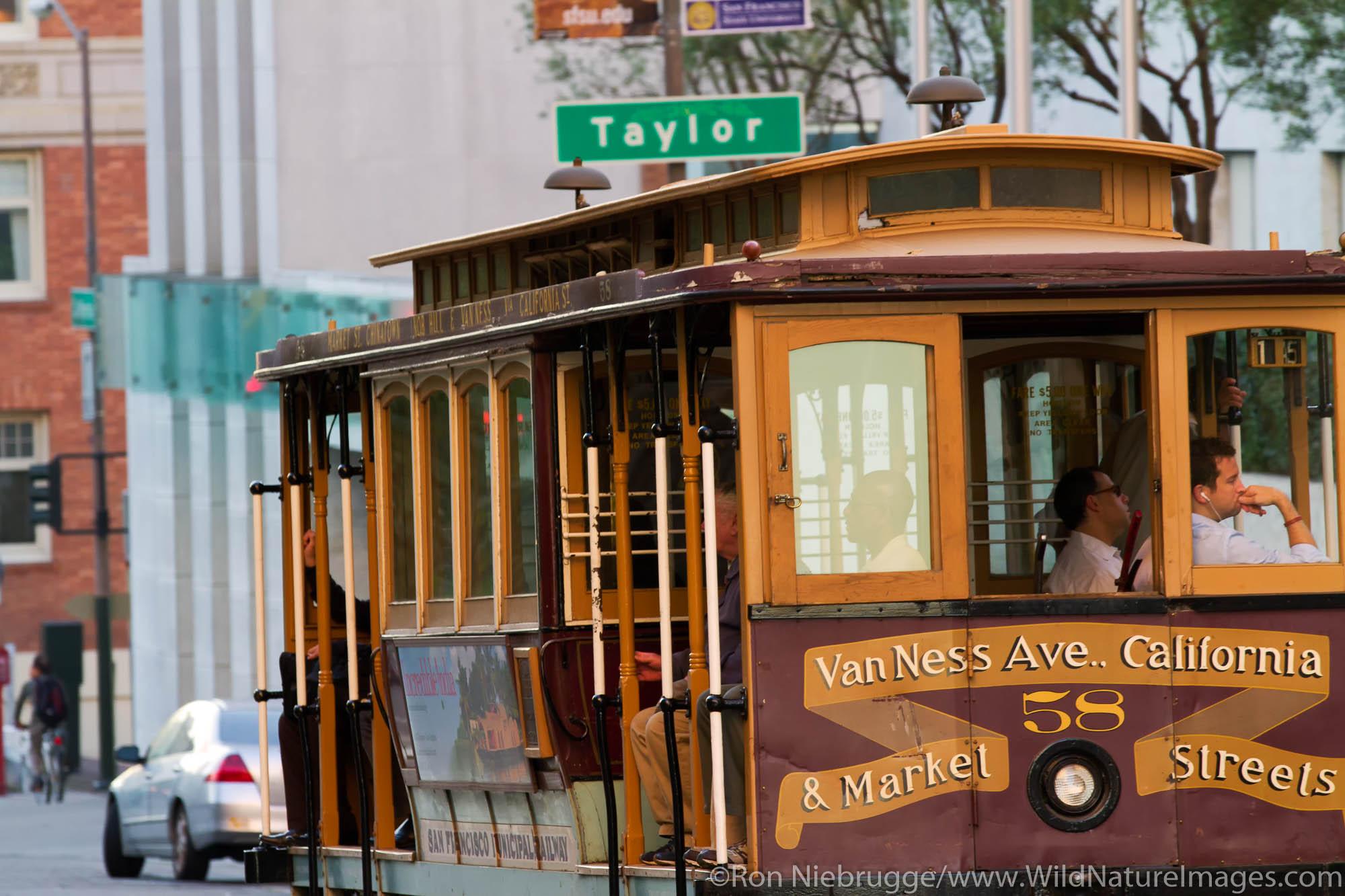 Historic cable car in San Francisco, CA