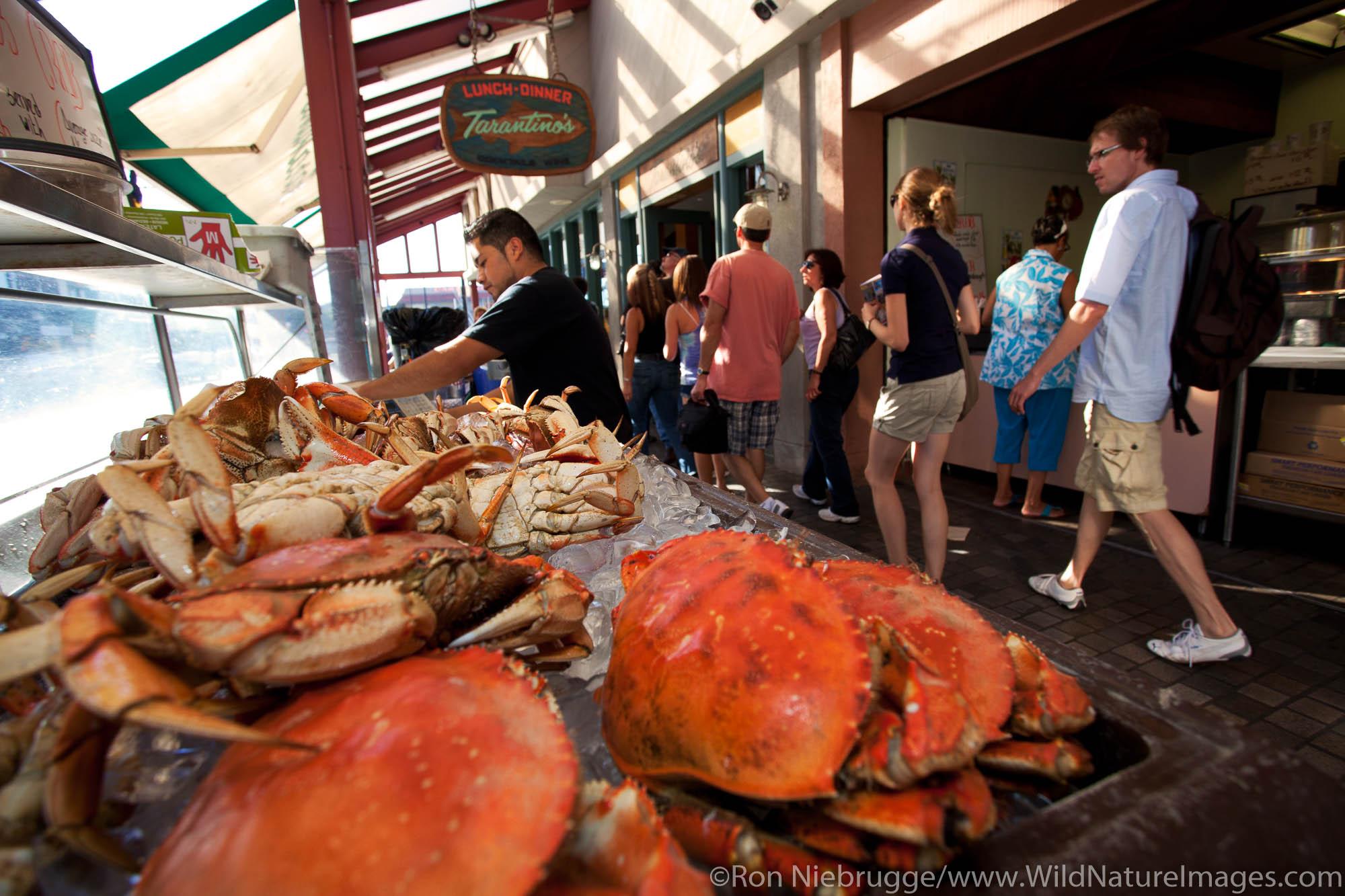 Fish market at Fisherman's Wharf, San Francisco, CA