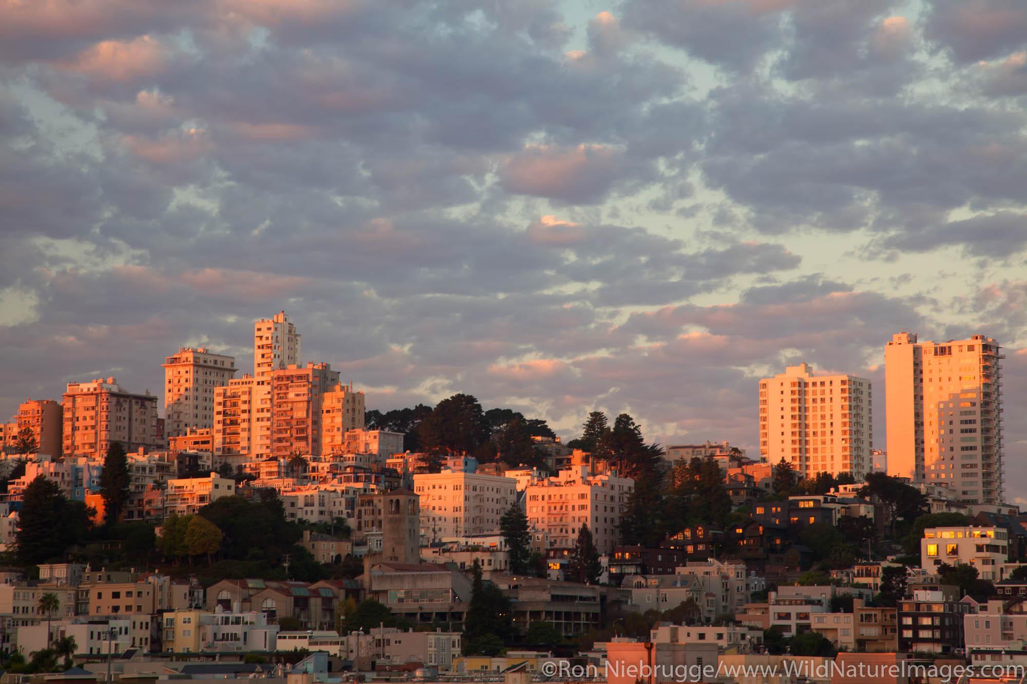 San Francisco skyline at sunrise, San Francisco, CA