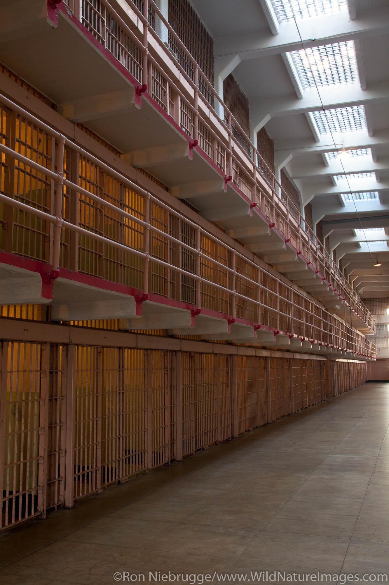 Inside Cellhouse at Alcatraz, Broadway C & D Block, San Francisco, CA