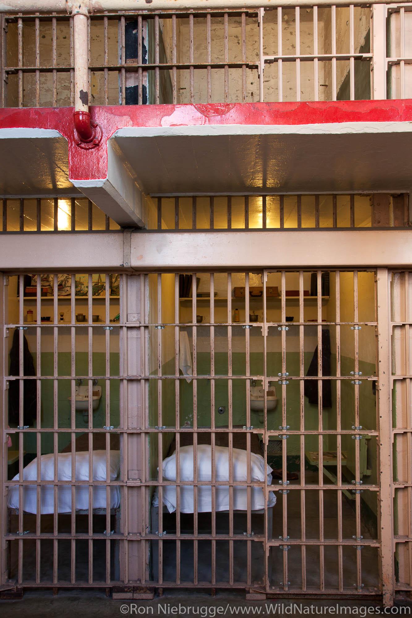 Inside cellhouse at Alcatraz, San Francisco, CA