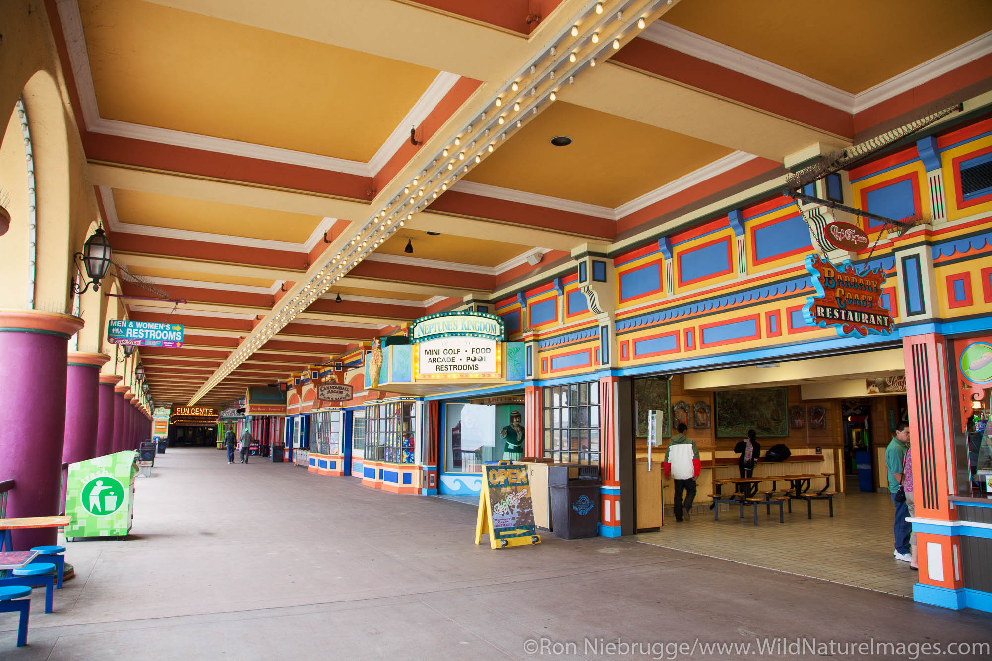 Arcade and Casino at Santa Cruz Beach Boardwalk, California