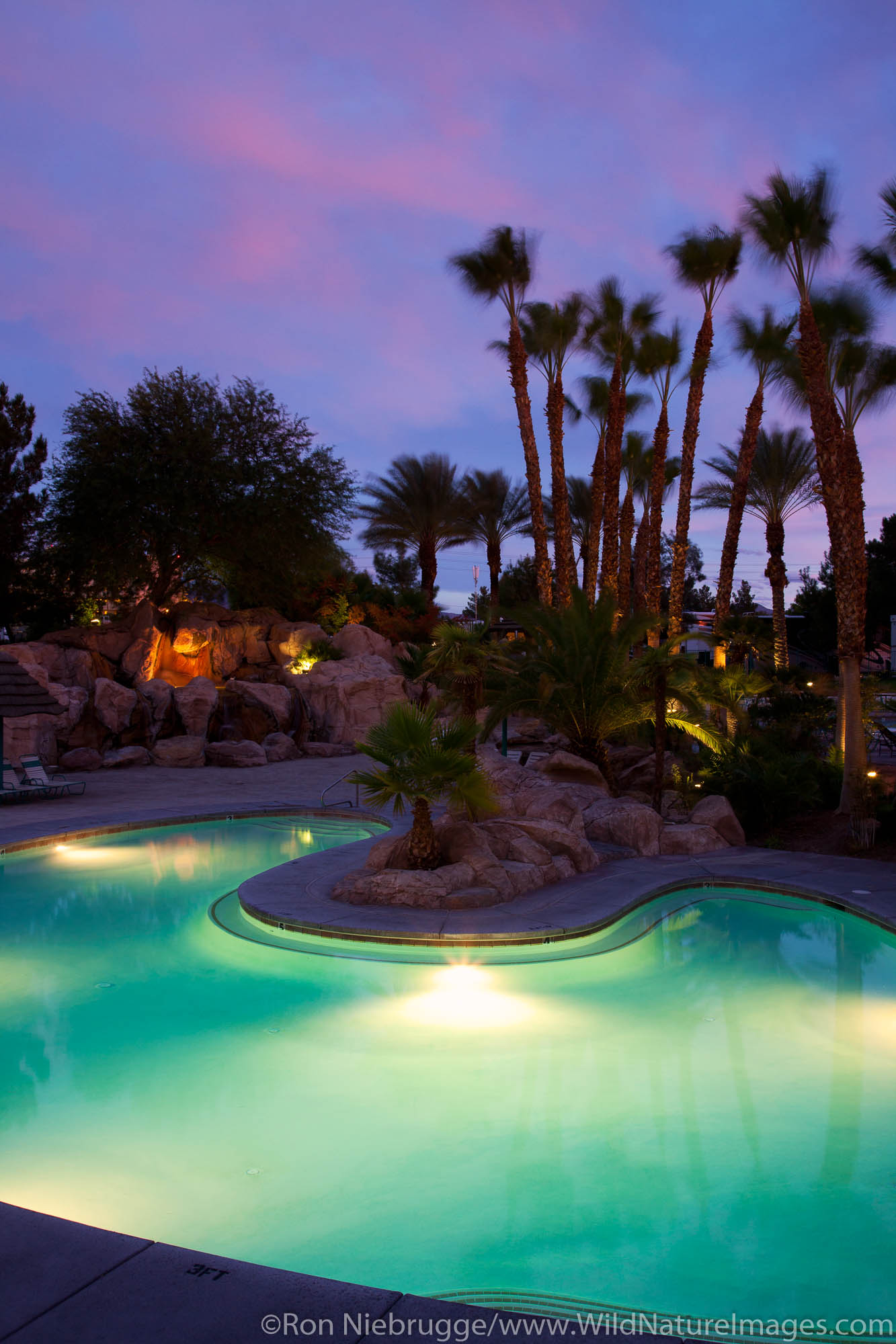 Sunset at Oasis Las Vegas RV Resort, Las Vegas, Nevada