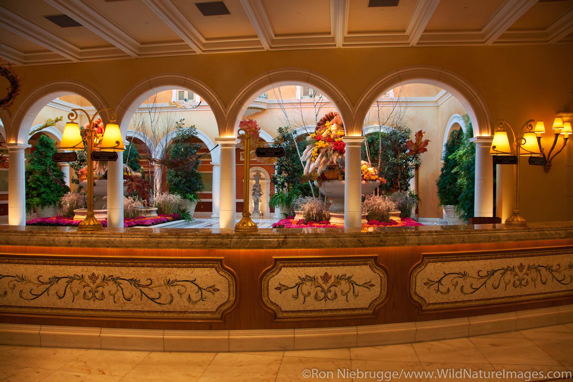 Lobby of Bellagio Resort and Casino, Las Vegas, Nevada