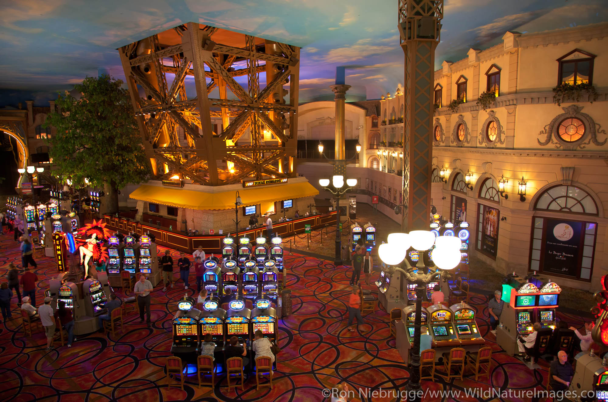 Inside the Casino at Paris Las Vegas Hotel and Casino, Las Vegas, NV