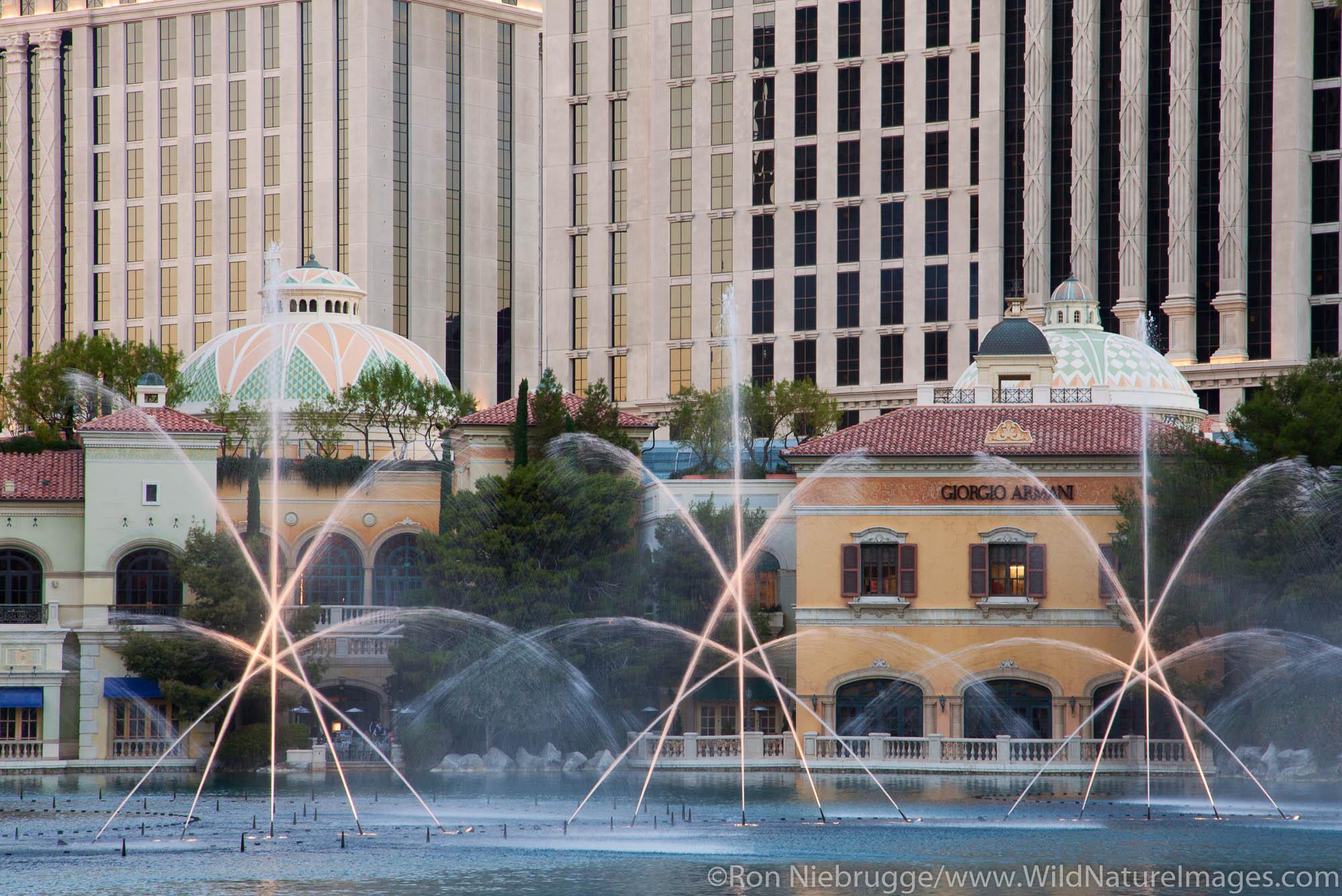 Fountains of Bellagio, Bellagio Resort and Casino, Las Vegas, Nevada