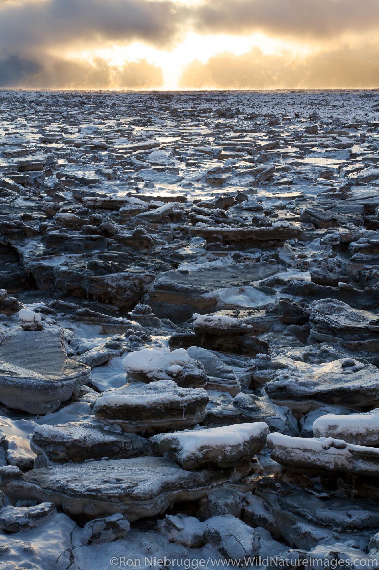 Ice flows on Turnagain Arm, Alaska.