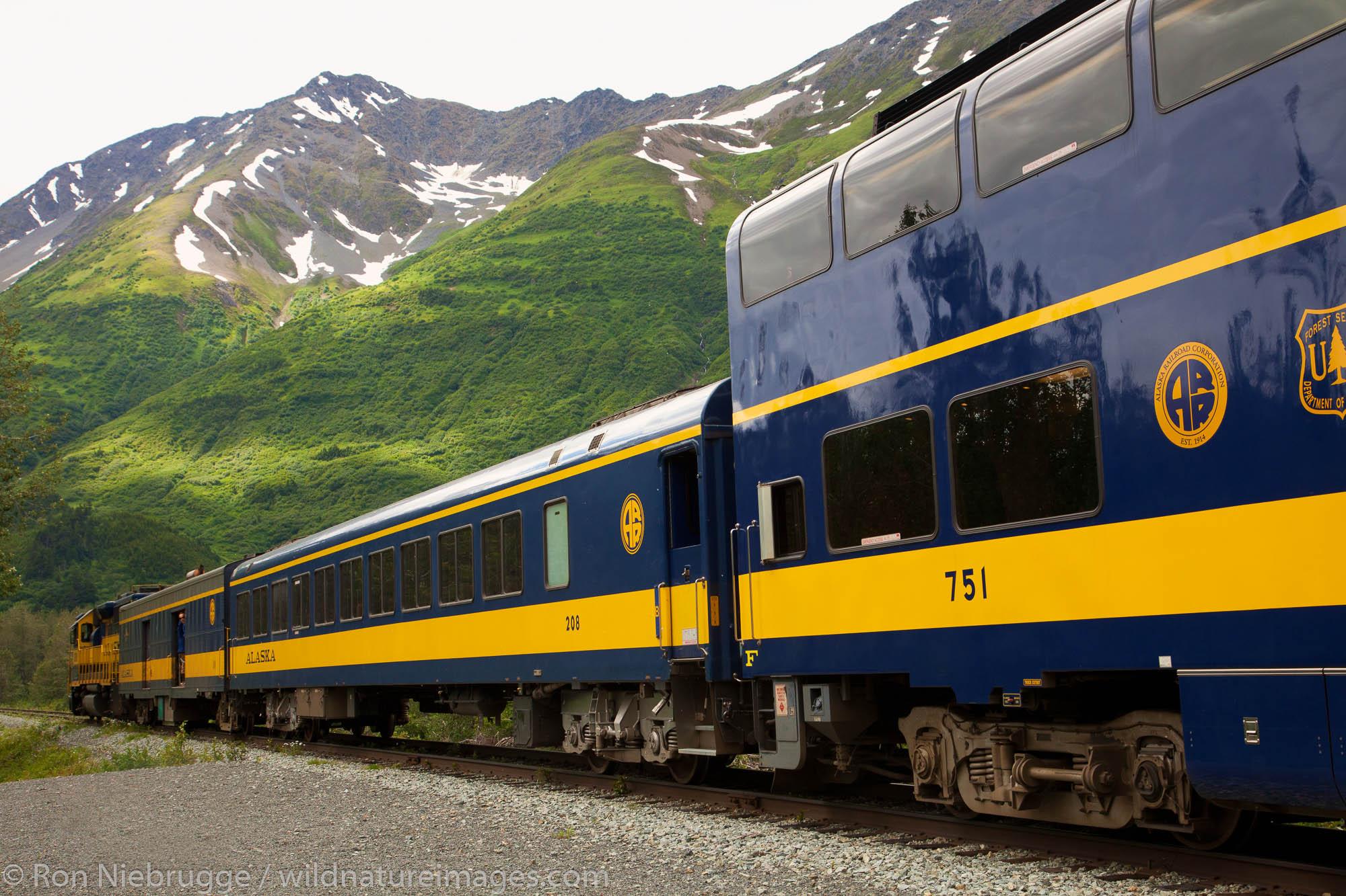 The train to Spencer Glacier, Chugach National Forest, Alaska.