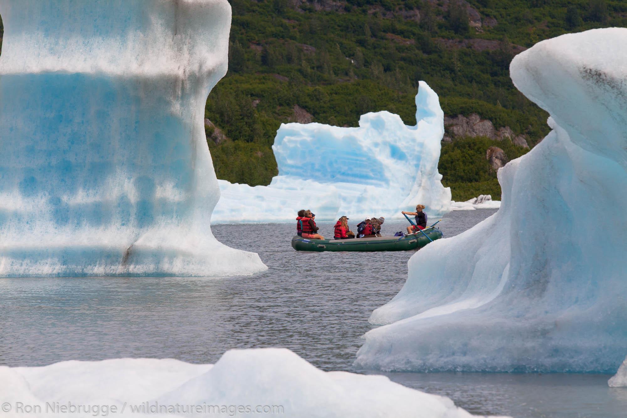 Rafting at Spencer Glacier, Chugach National Forest, Alaska.