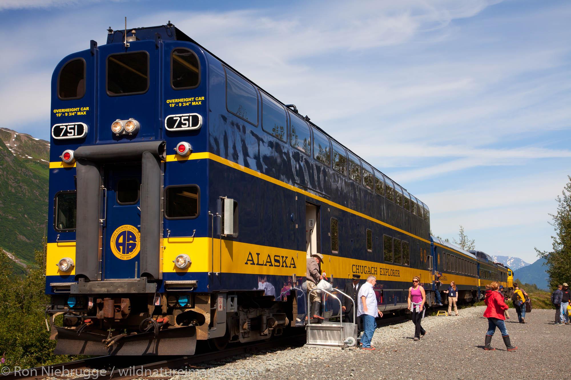 The Alaska Railroad to Spencer Glacier, Chugach National Forest, Alaska.