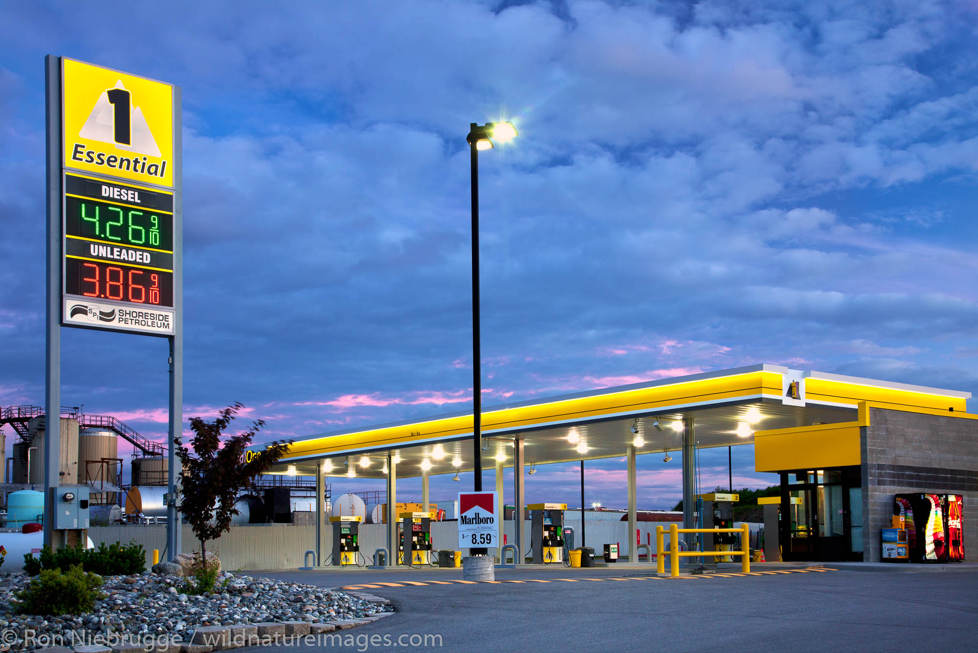 Essential One, Anchorage.  Shoreside Petroleum July 2011 shoot.