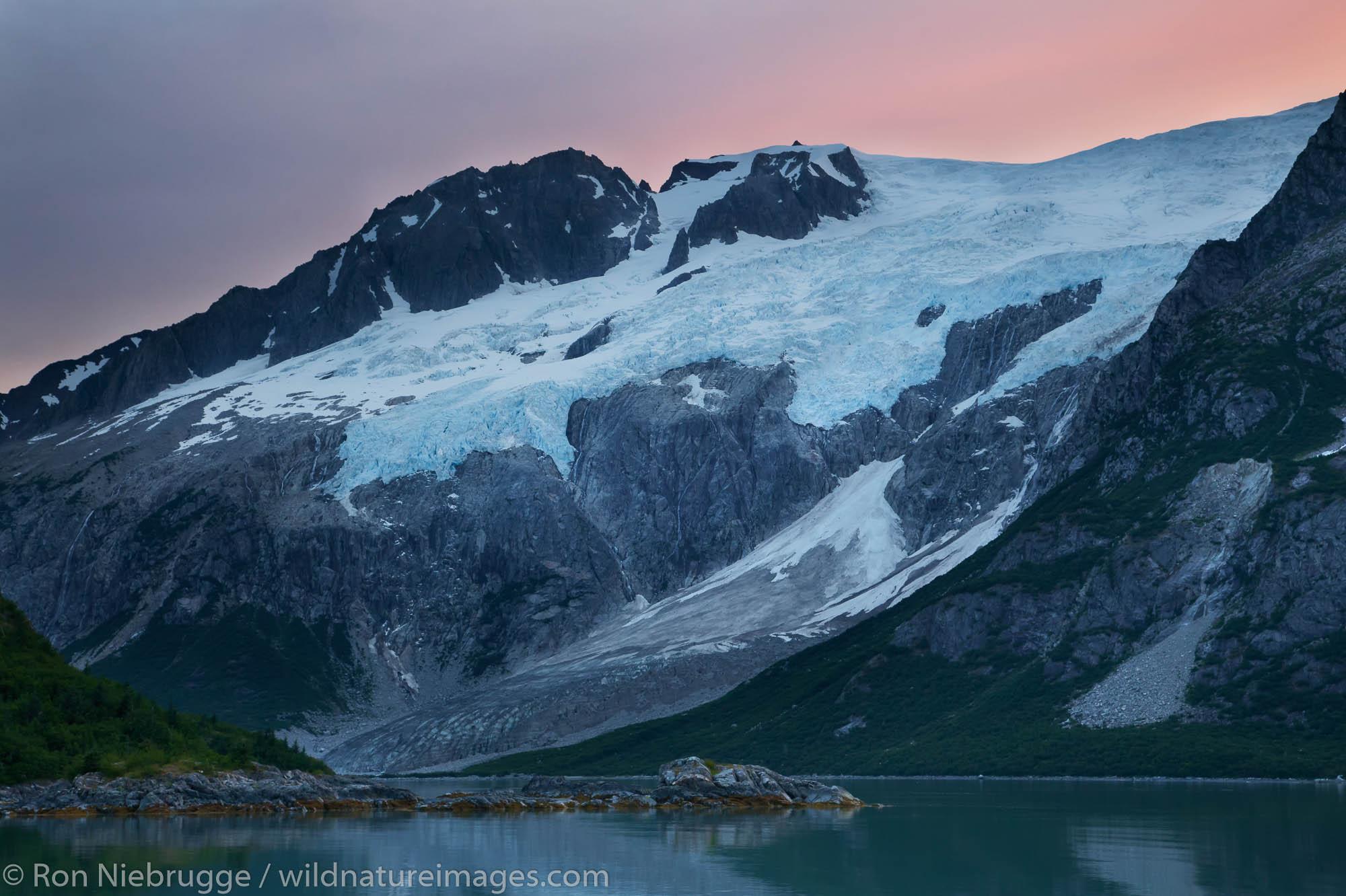 Sunrise Northwestern Fjord, Kenai Fjords National Park, near Seward, Alaska.