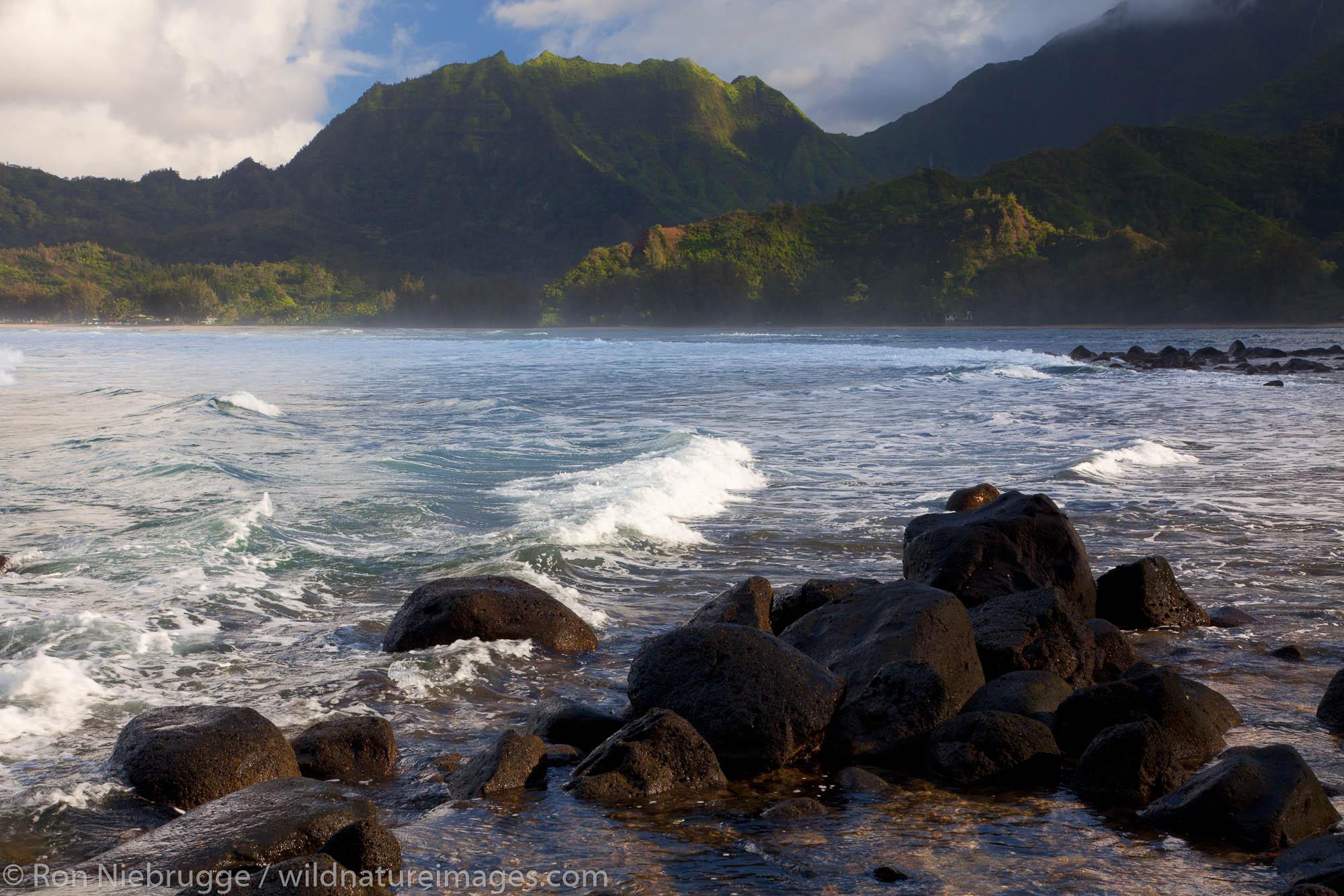 Hanalei Bay, Kauai, Hawaii.