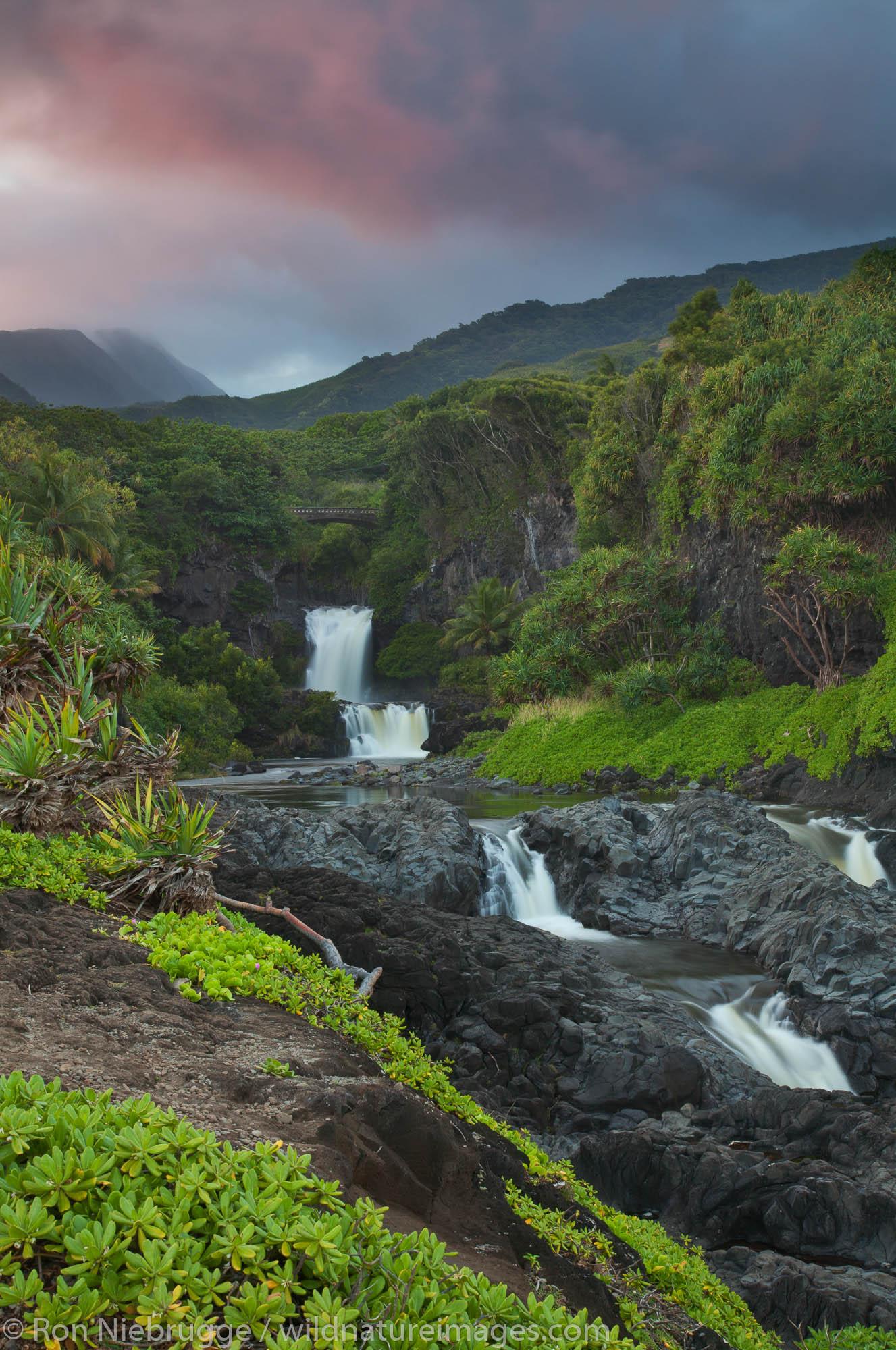 Ohe'o Gulch - aka Seven Sacred Pools, Haleakala National Park, near Hana, Maui, Hawaii.