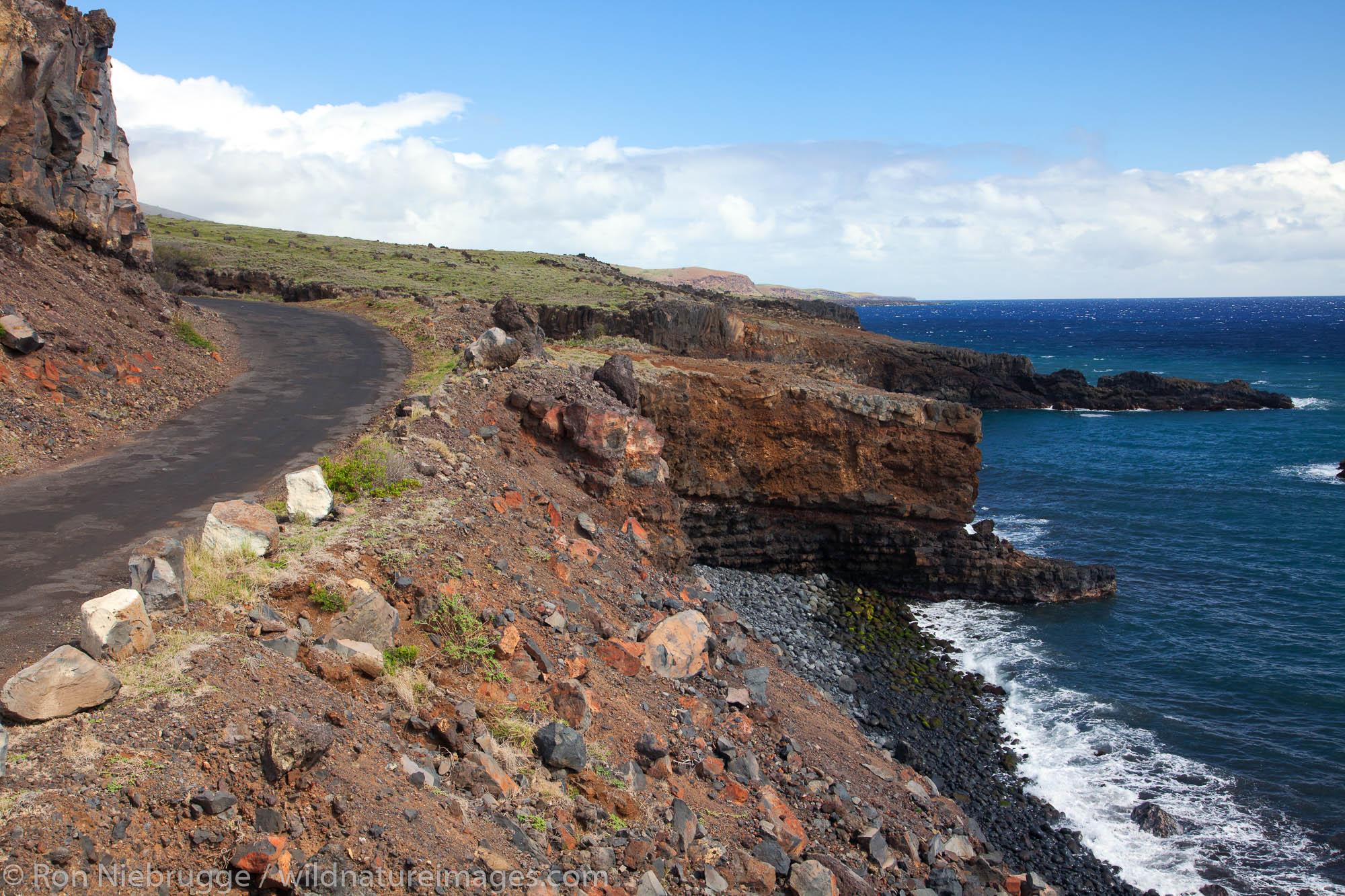 The road past Hana on the Southeast side of Maui, Hawaii.