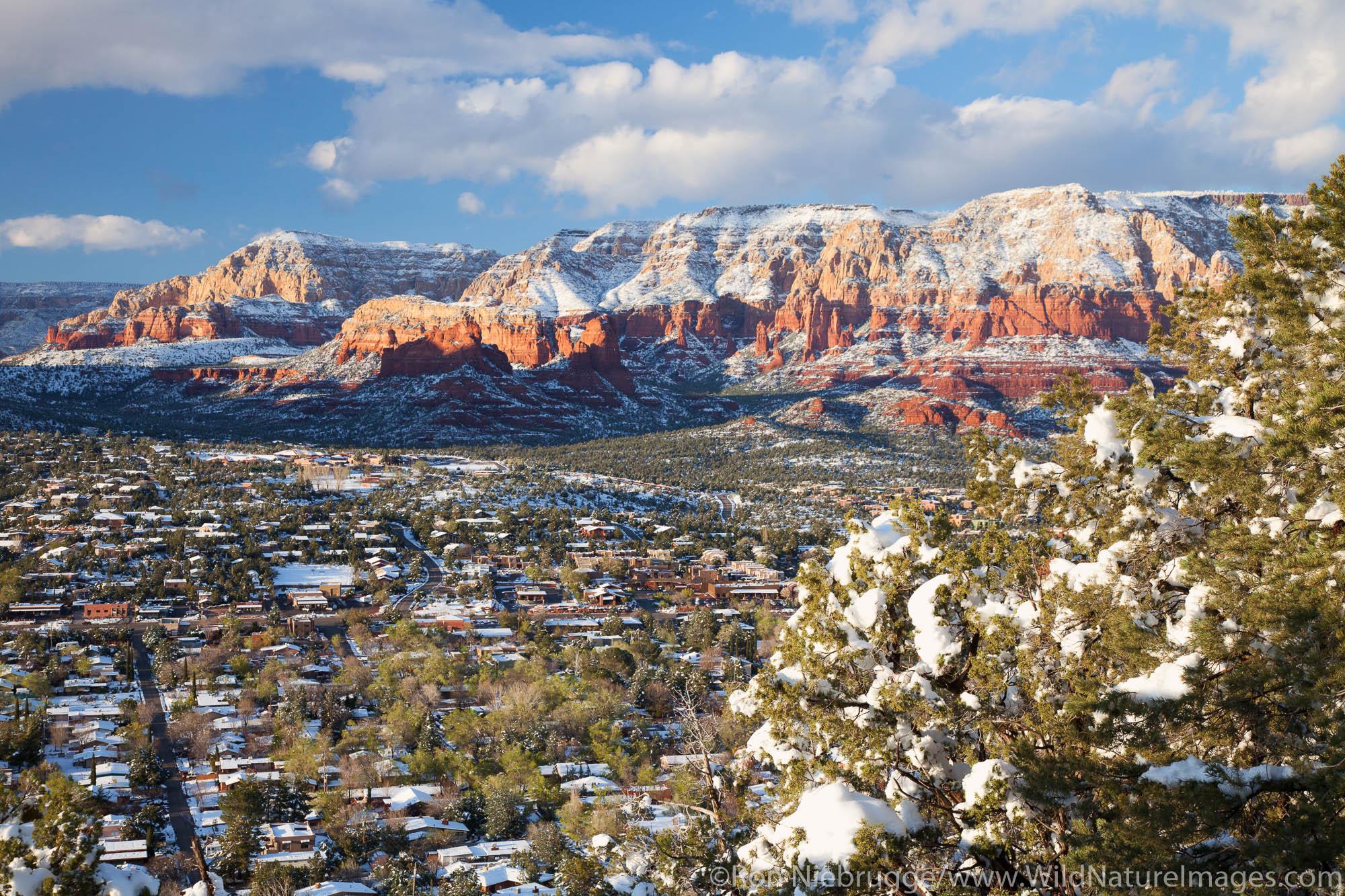 Winter snow, Sedona, Arizona.