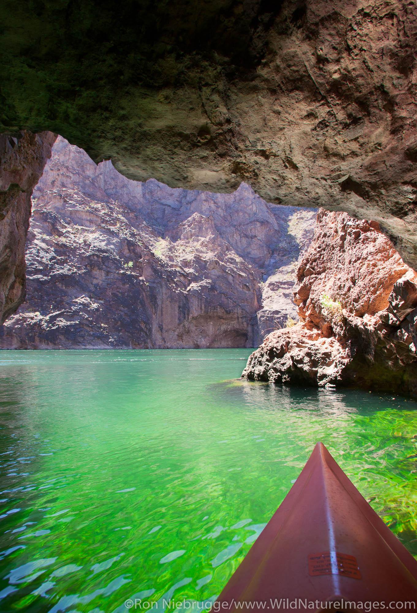 Kayaking on the Colorado River, Lake Mead National Recreation Area, near Las Vegas, Nevada.
