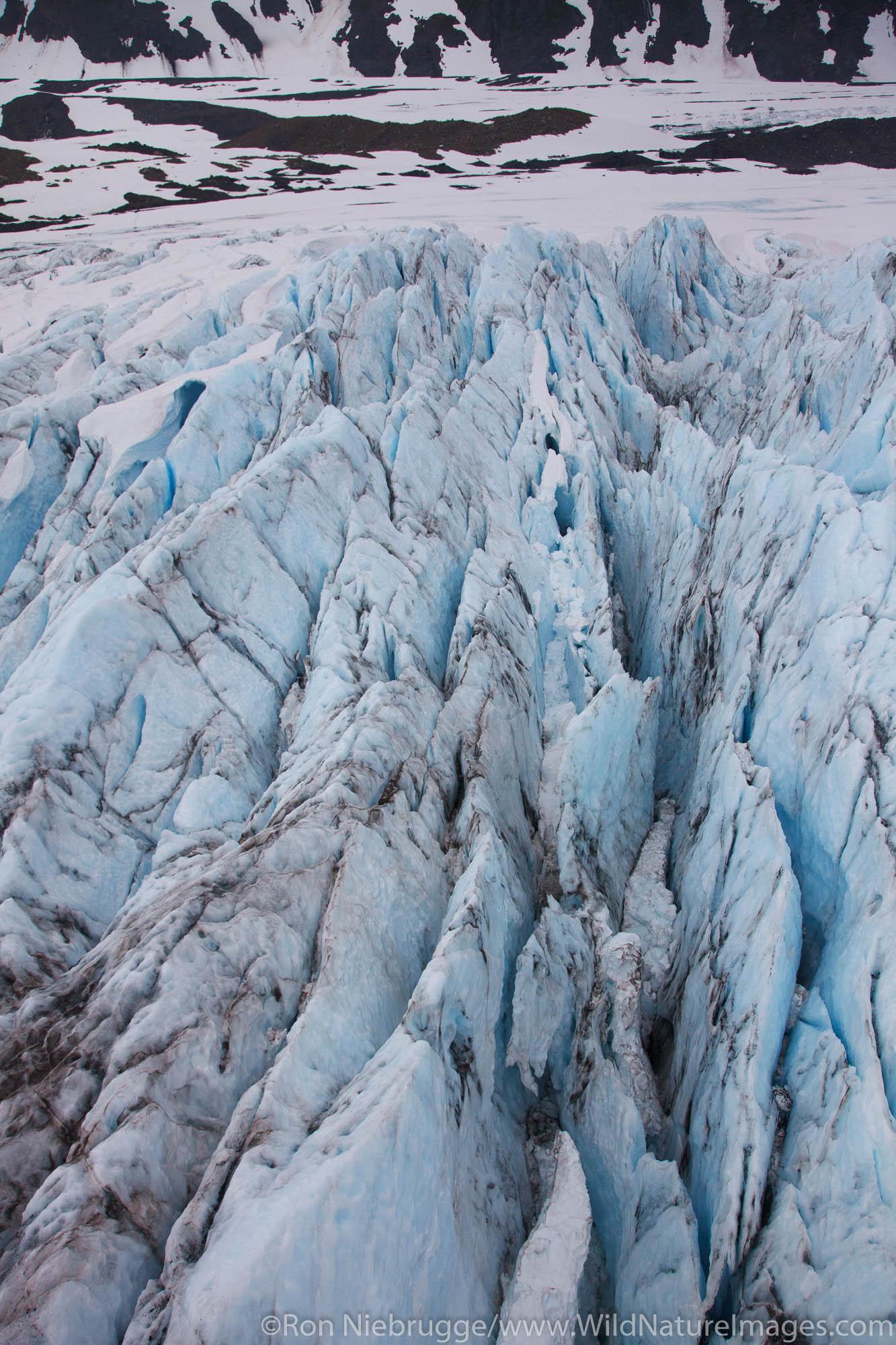 Aerial Twentymile Glacier, Chugach National Forest, Alaska.