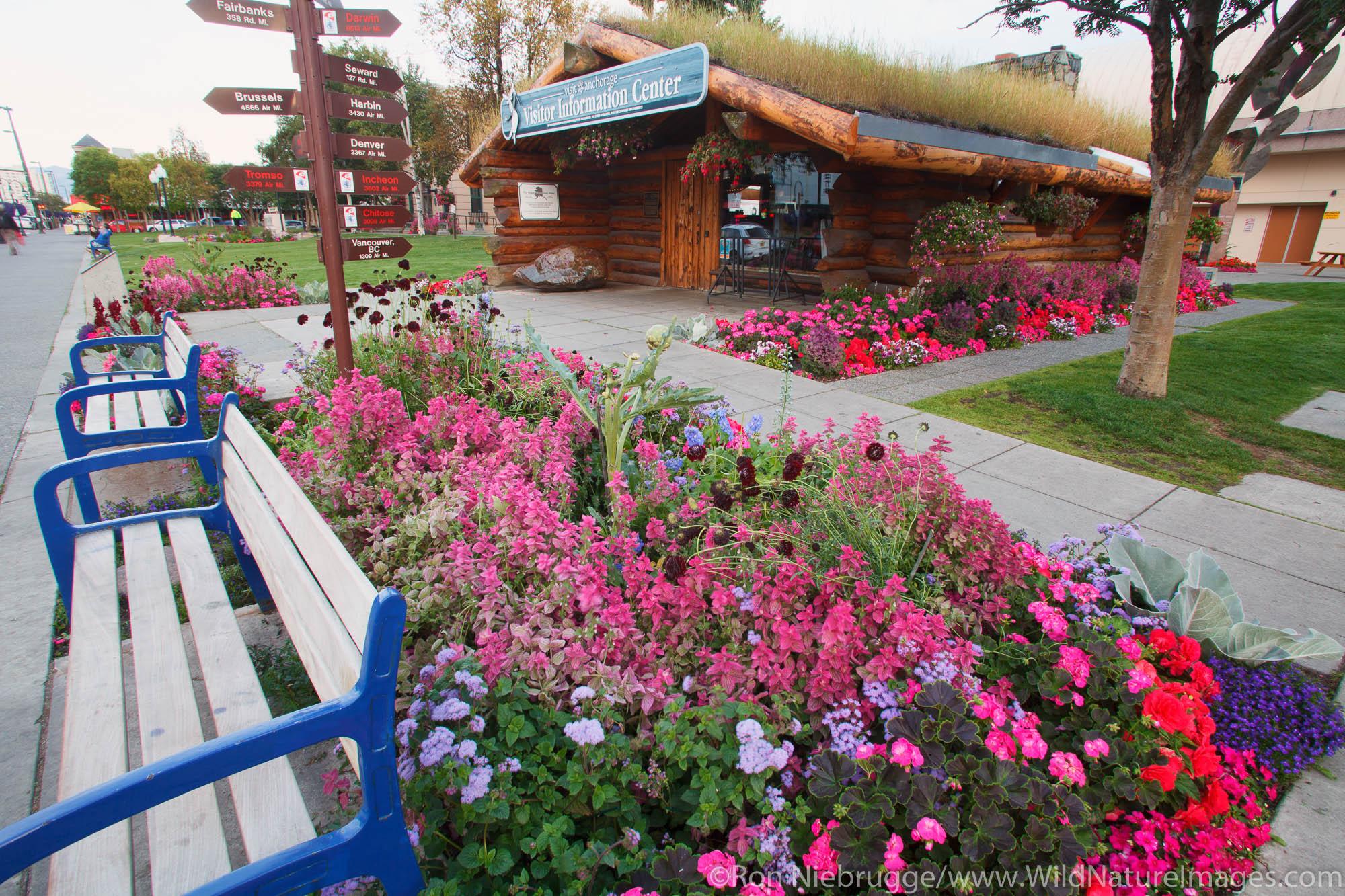 Visitor Information Center, downtown Anchorage, Alaska.