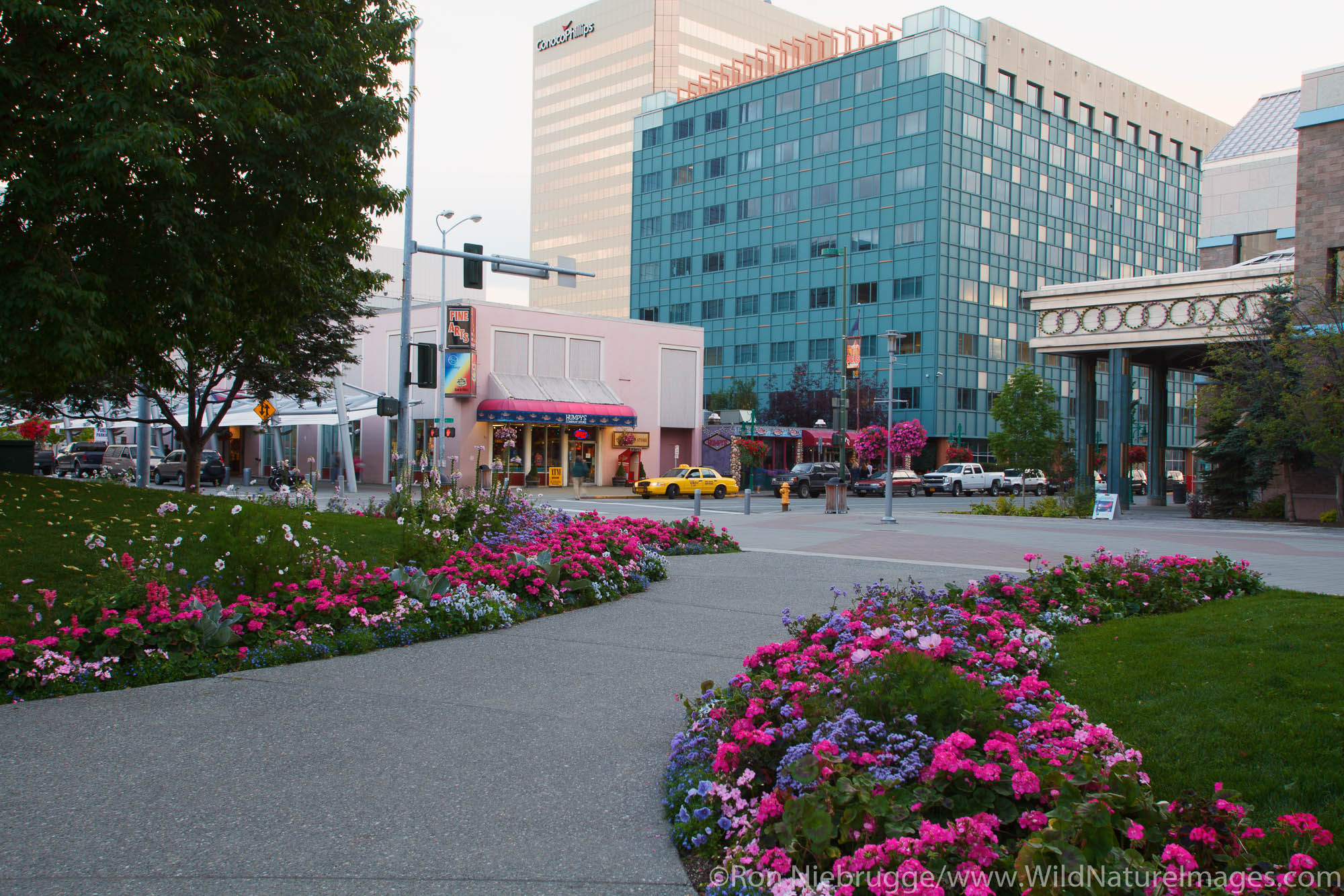 Town Square Park, downtown Anchorage, Alaska.
