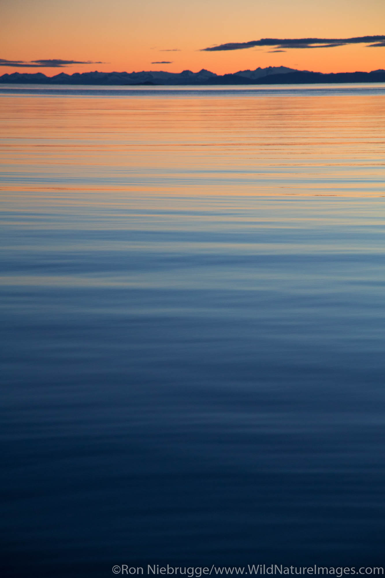 Sunset in Frederick Sound, Tongass National Forest, Alaska.