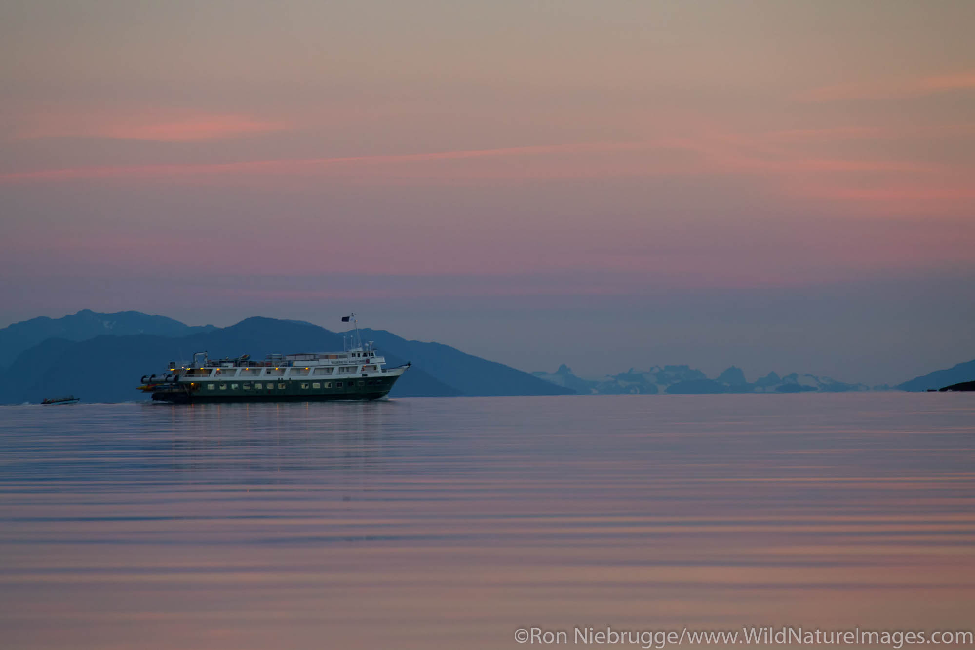 Tour boat Wilderness Adventures in Frederick Sound, Tongass National Forest, Alaska.