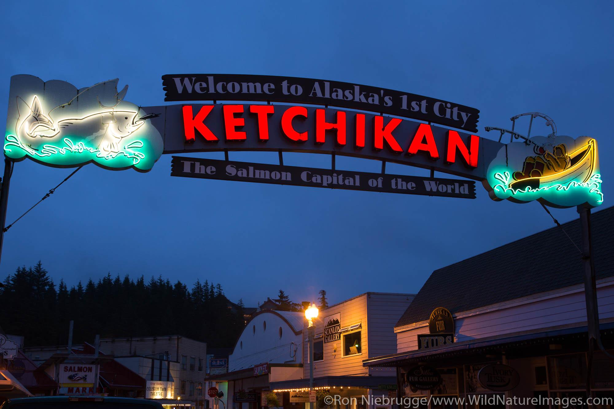 Ketchikan sign, Alaska