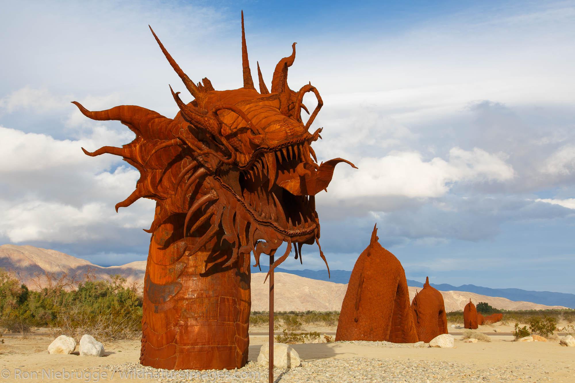 A statue in Borrego Springs, near Anza-Borrego Desert State Park, California.