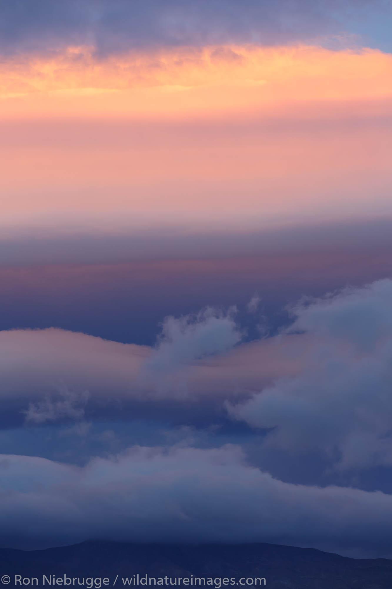 Clouds over Anza-Borrego Desert State Park, California.