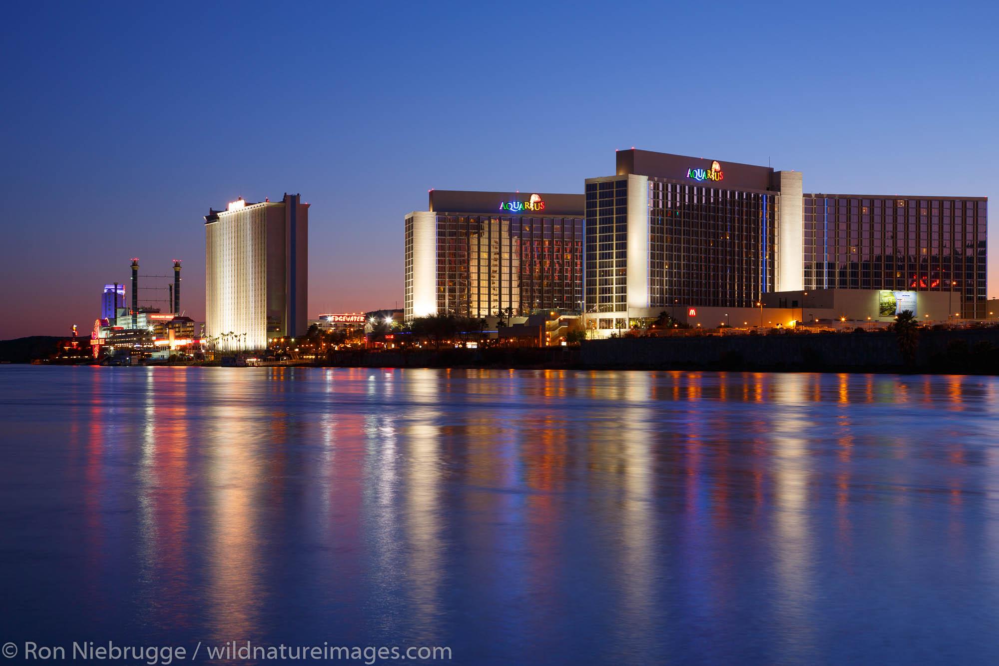Casinos along the Colorado River, Laughlin, Nevada.