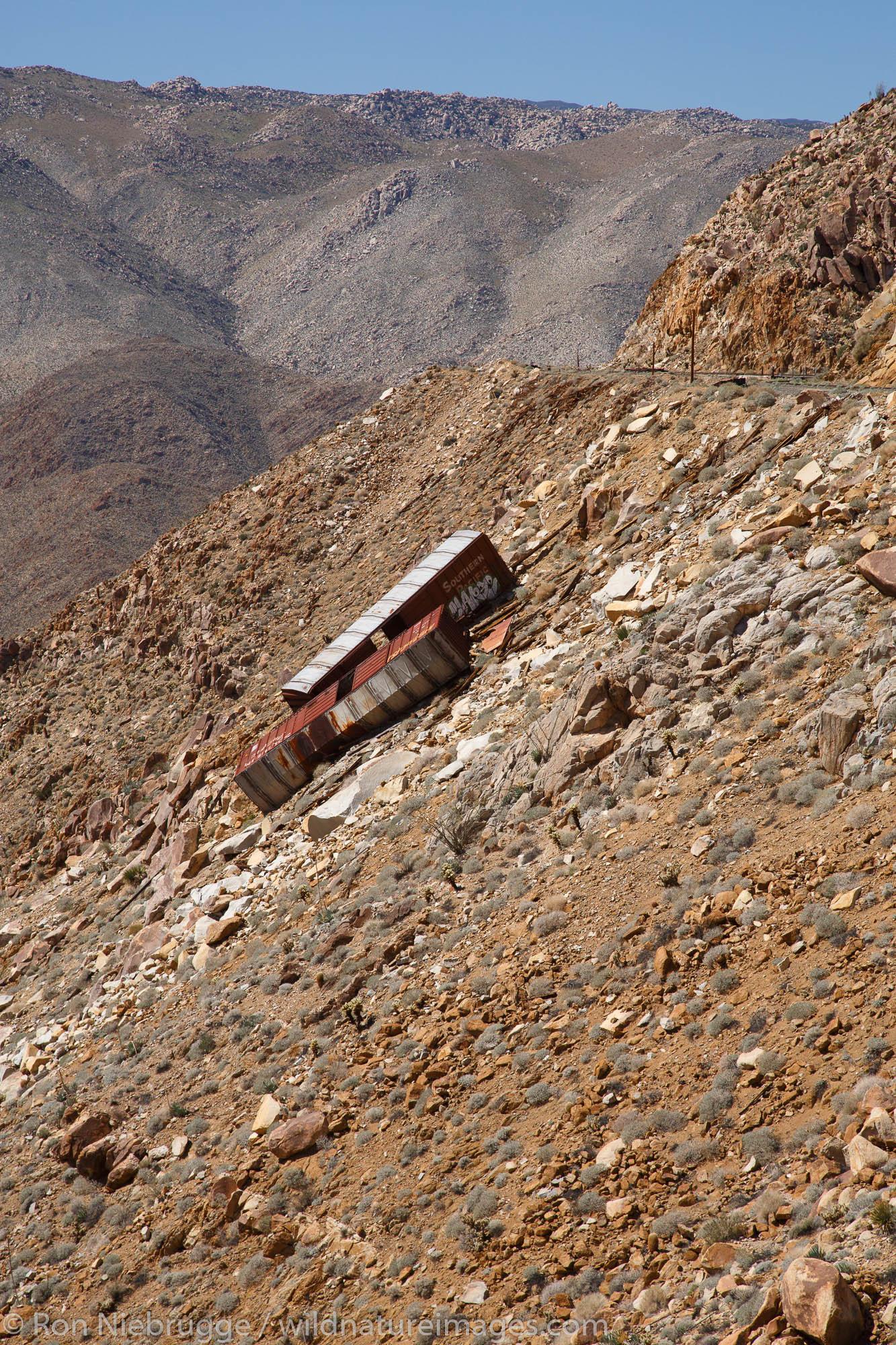 Carrizo Gorge Railroad Track, Anza-Borrego Desert State Park, California.