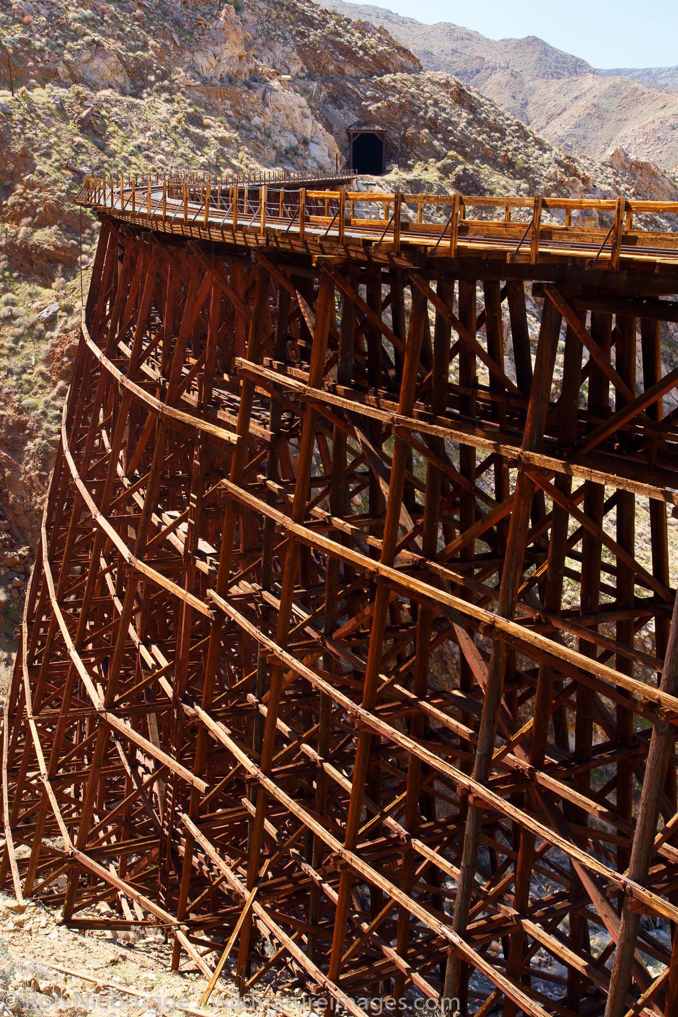 Goat Canyon Trestle on the Carrizo Gorge Railroad Track, Anza-Borrego Desert State Park, California.