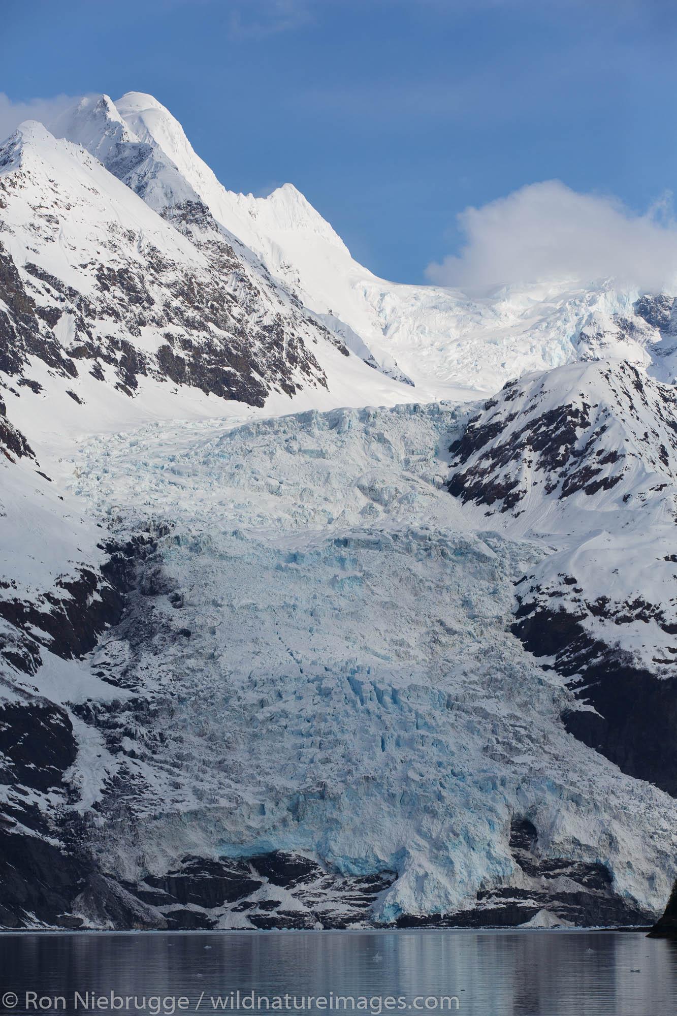 Harriman Fiord, Cascade Glacier, Prince William Sound, Chugach National Forest, Alaska.