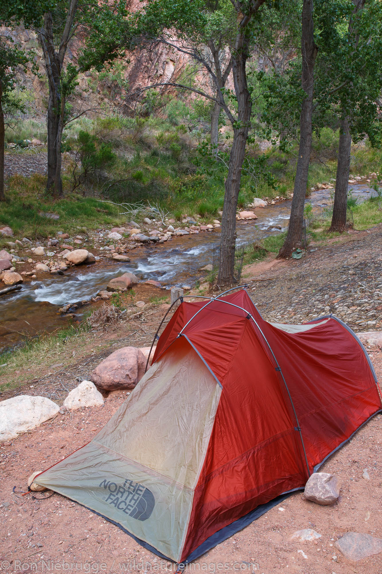 Bright Angel creek and Campground and the end of the South Kaibab Trail, Grand Canyon National Park, Arizona.