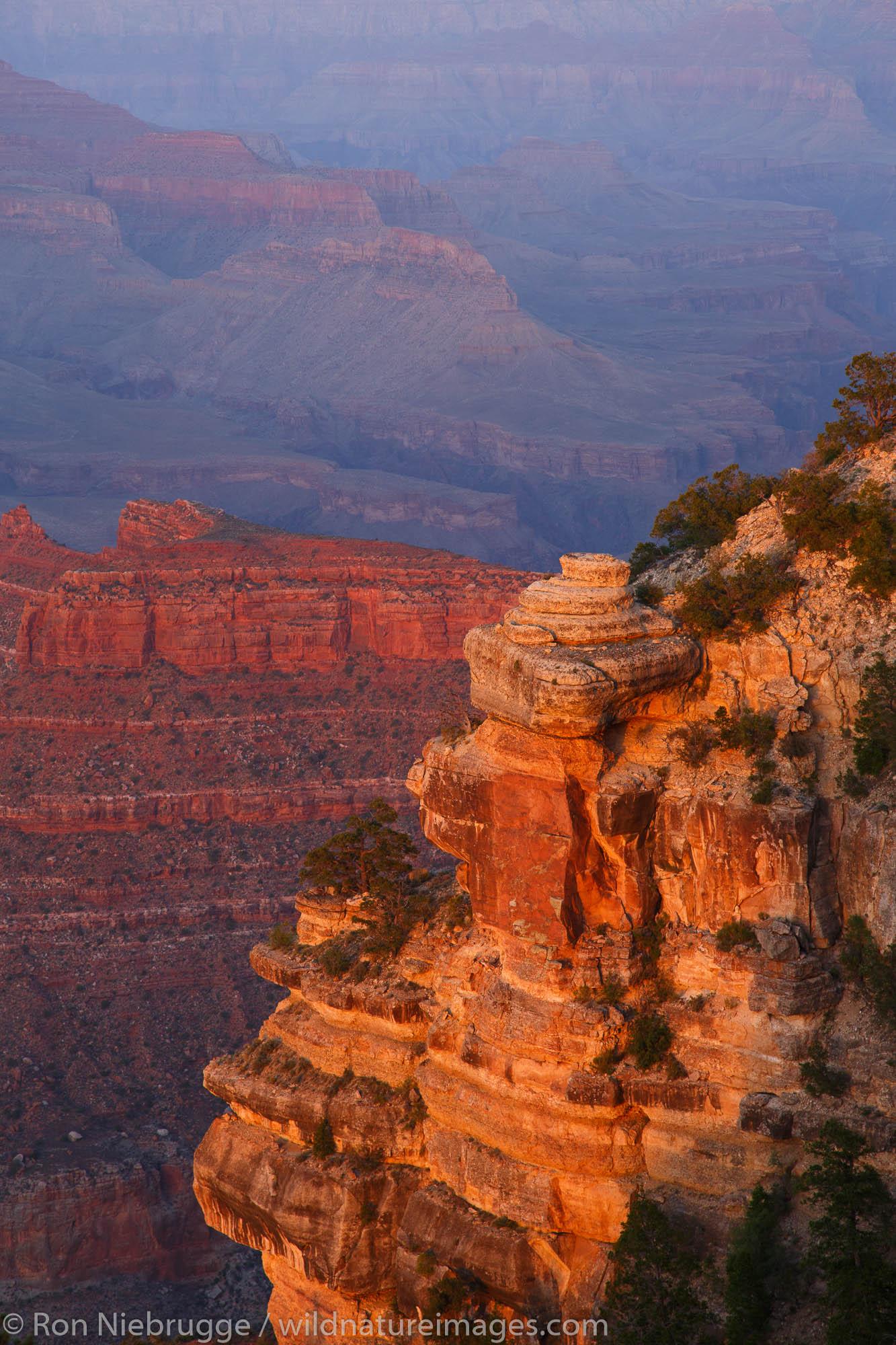 Sunset at Yaki Point, Grand Canyon National Park, Arizona.