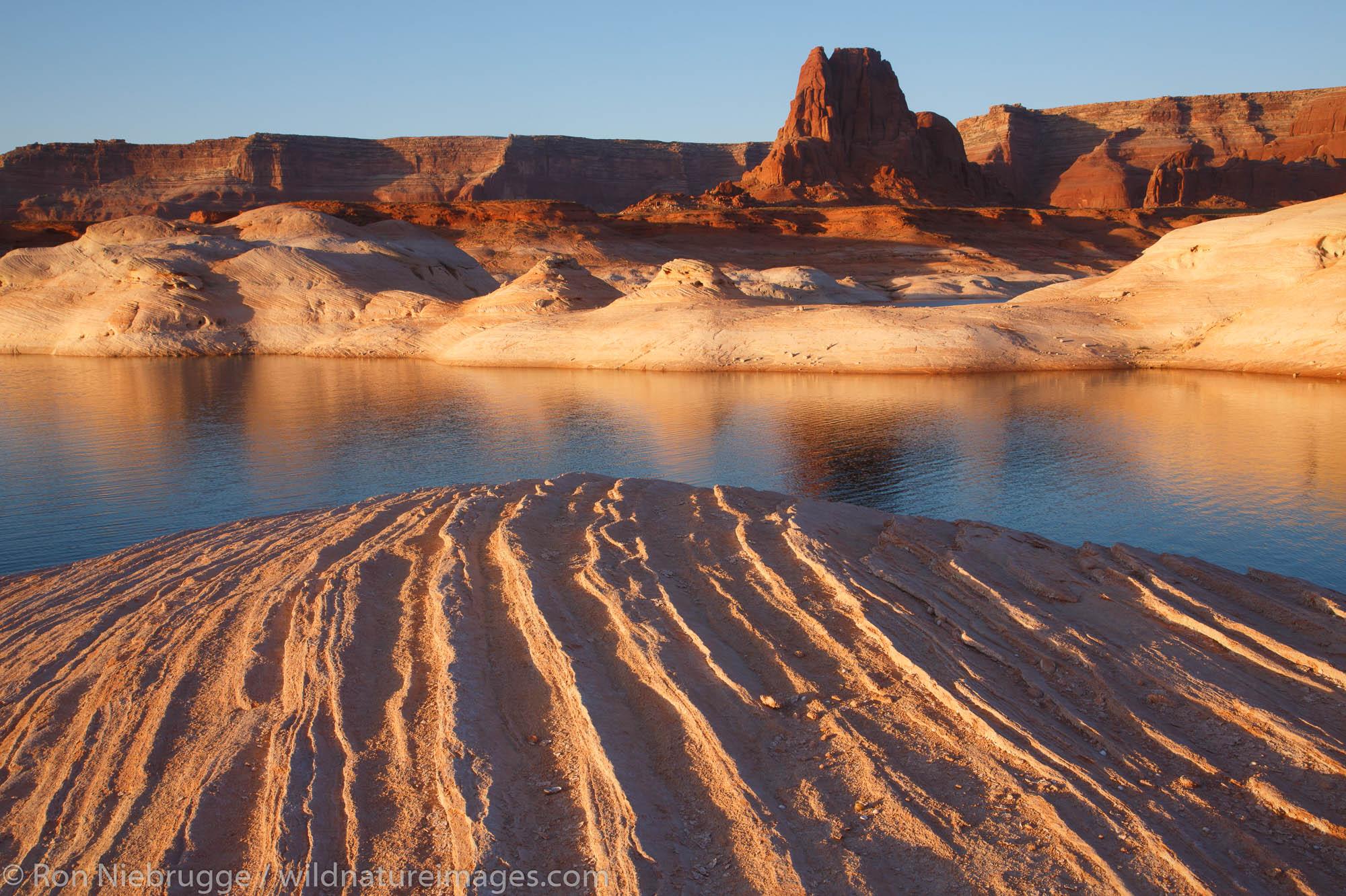 West Canyon Lake Powell Glen Canyon National Recreation Area Page Arizona.