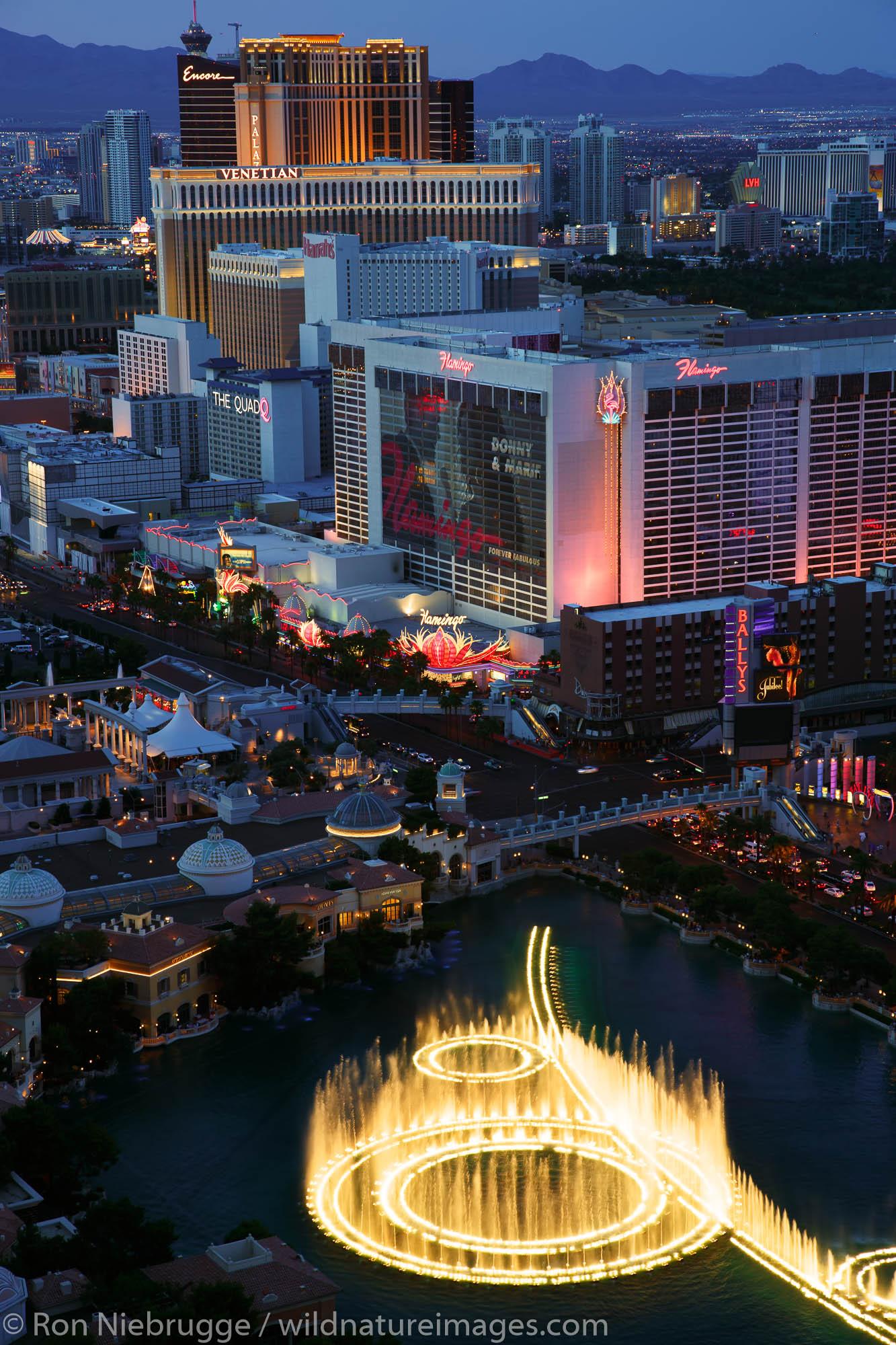 The Las Vegas Strip. Las Vegas, Nevada.