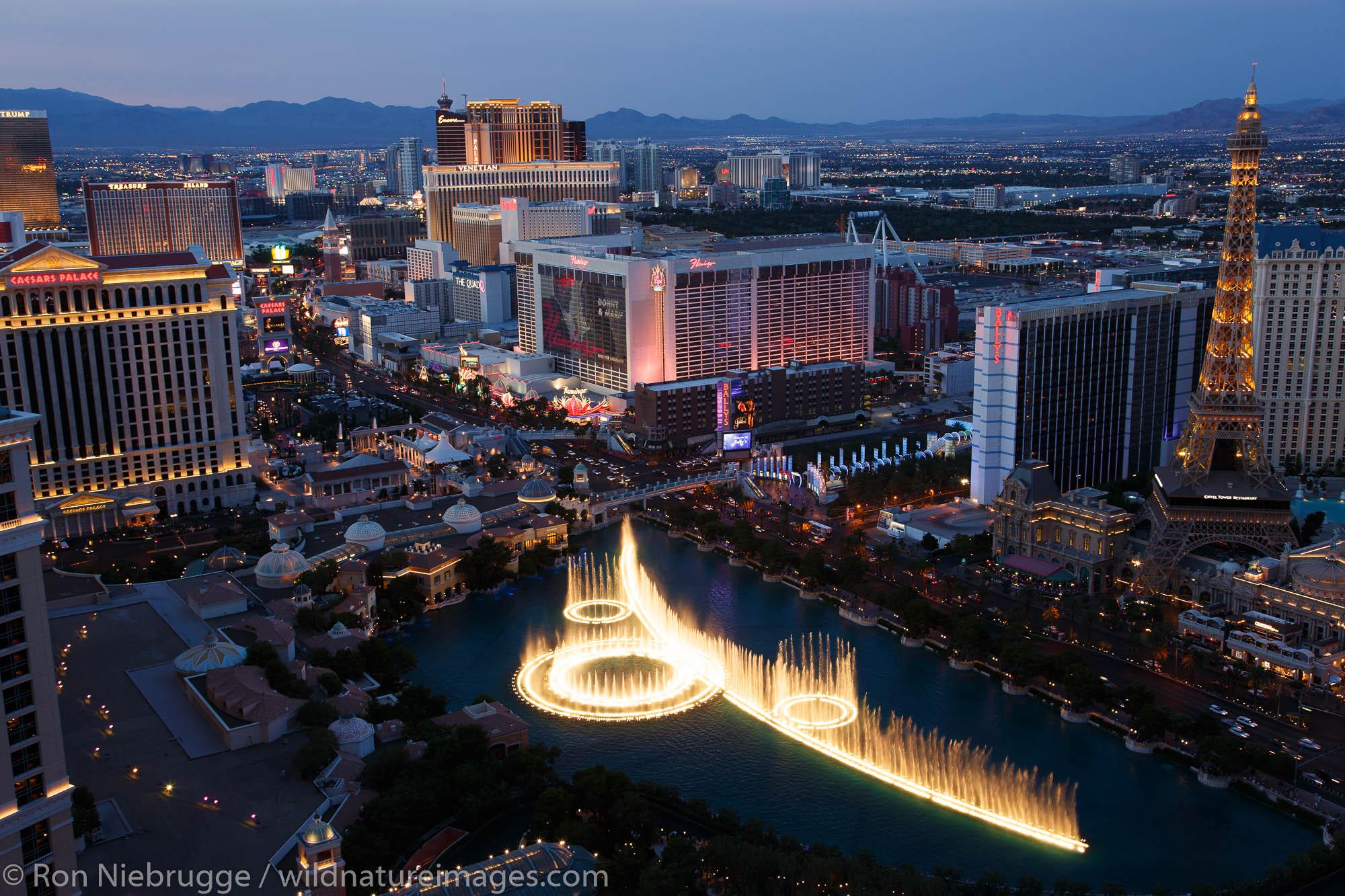 The Strip at night, Las Vegas, Nevada.