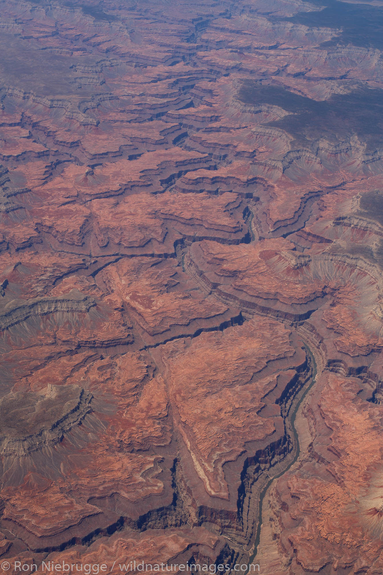In the air over Grand Canyon National Park, Arizona.