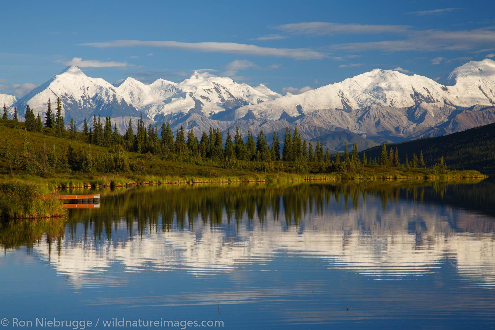 Mt McKinley, also known as Denali, from Wonder Lake, Denali National Park, Alaska.